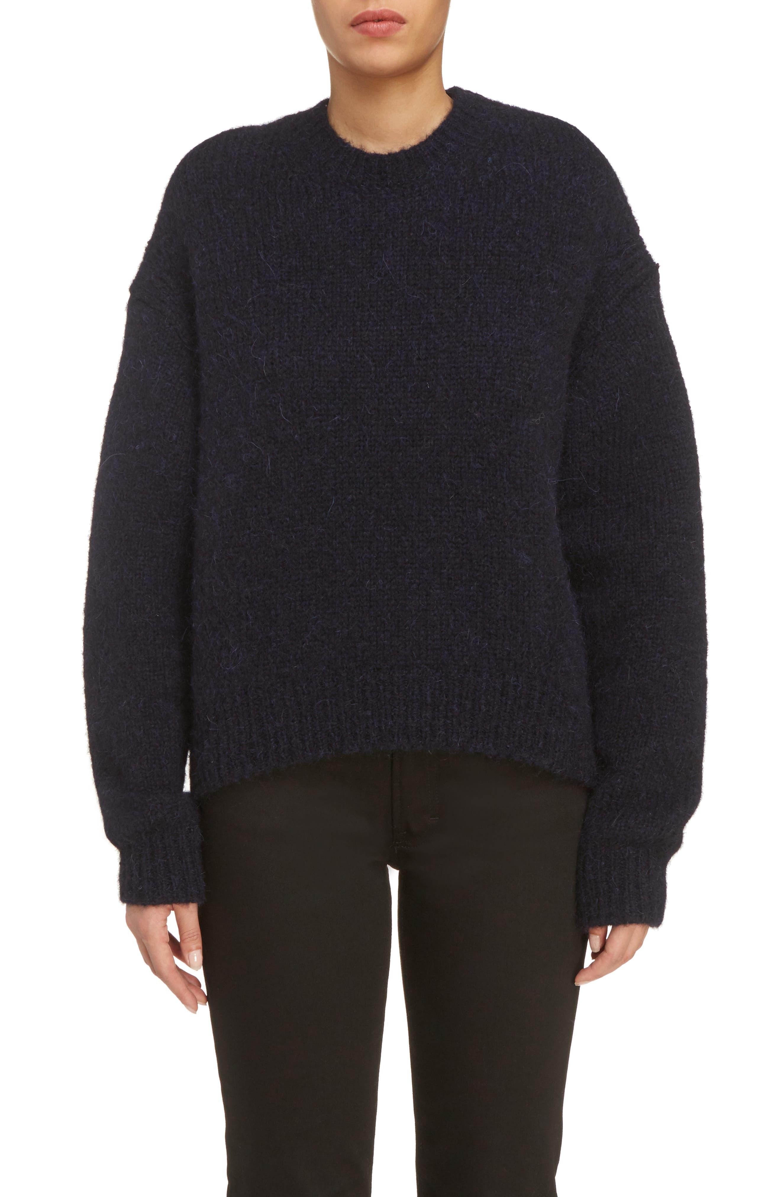 Karel Oversize Merino Sweater,                         Main,                         color, Black