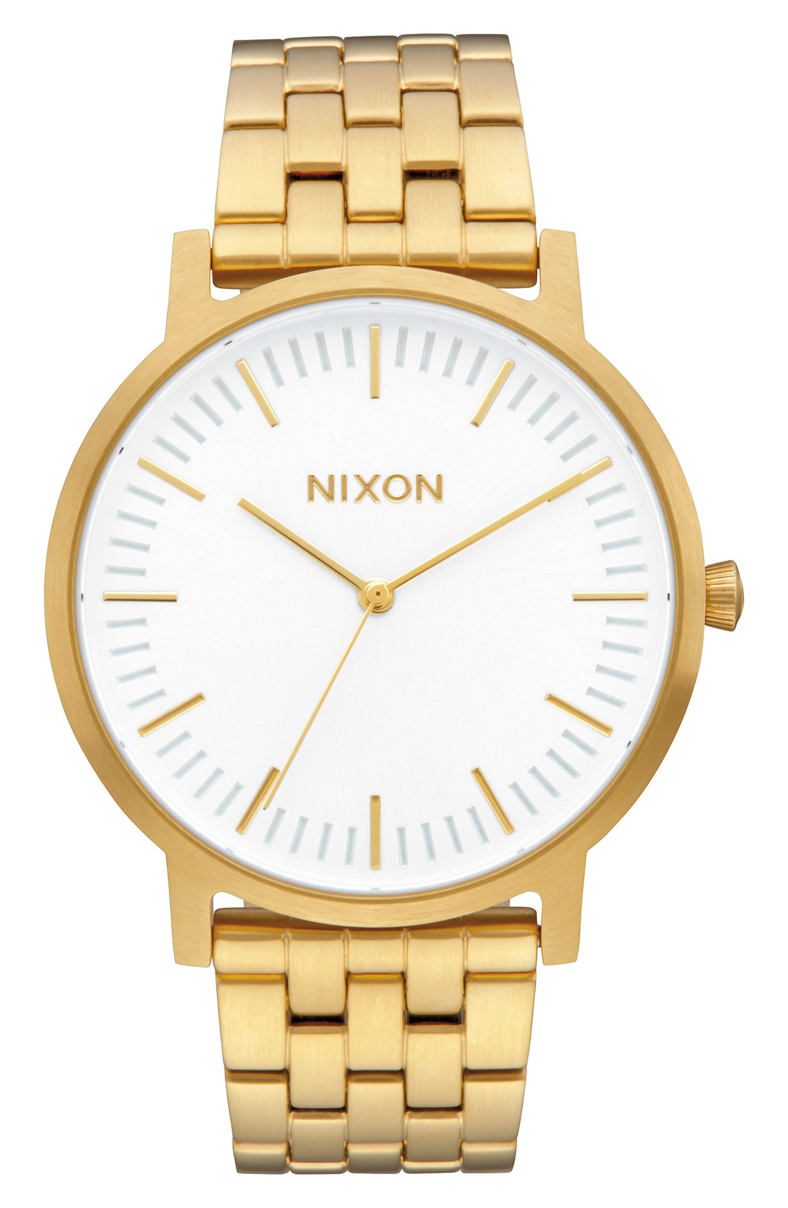 Porter Bracelet Watch, 40mm,                         Main,                         color, Gold/ White/ Gold
