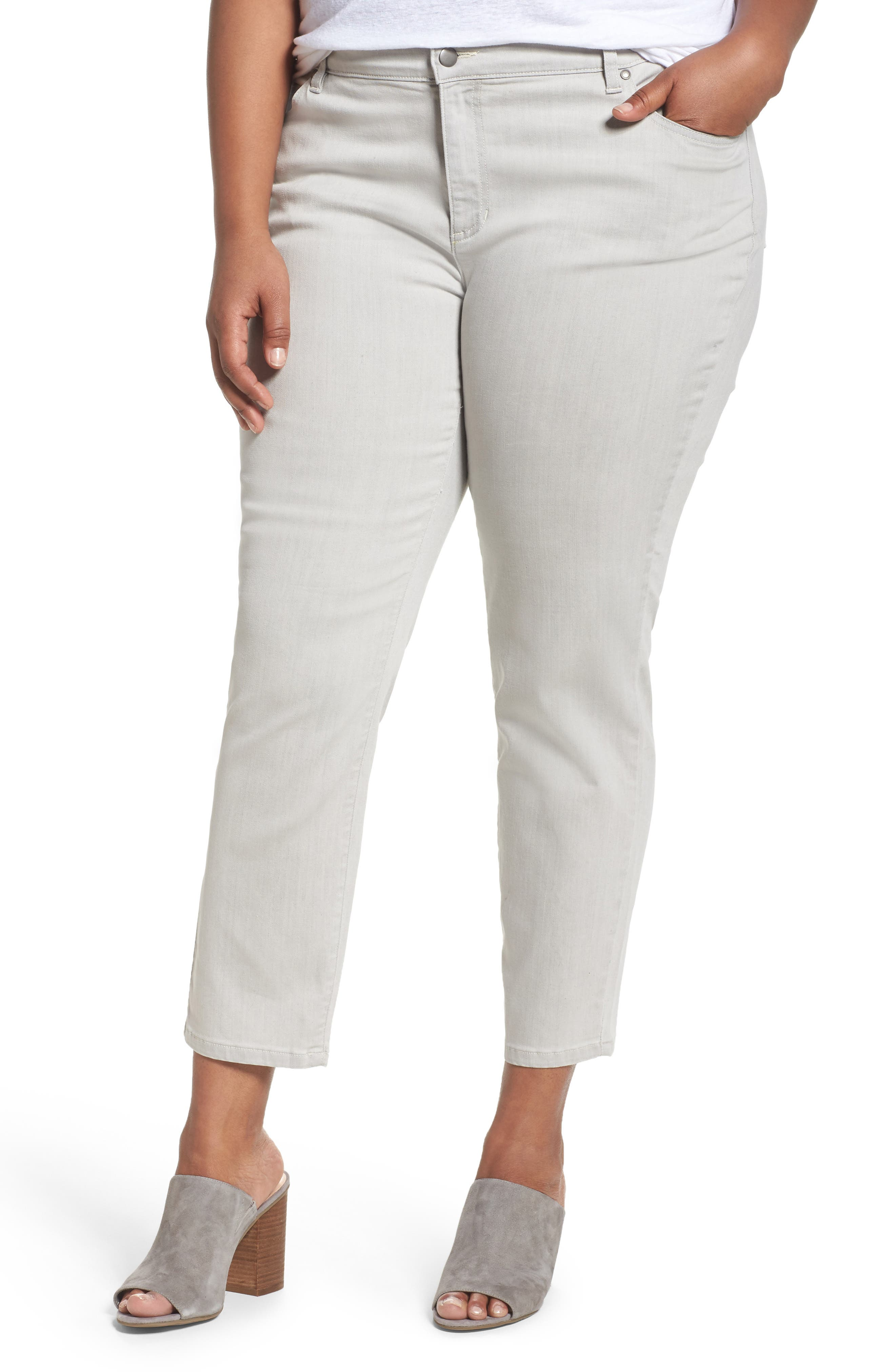 Eileen Fisher Organic Cotton Blend Skinny Jeans (Plus Size)
