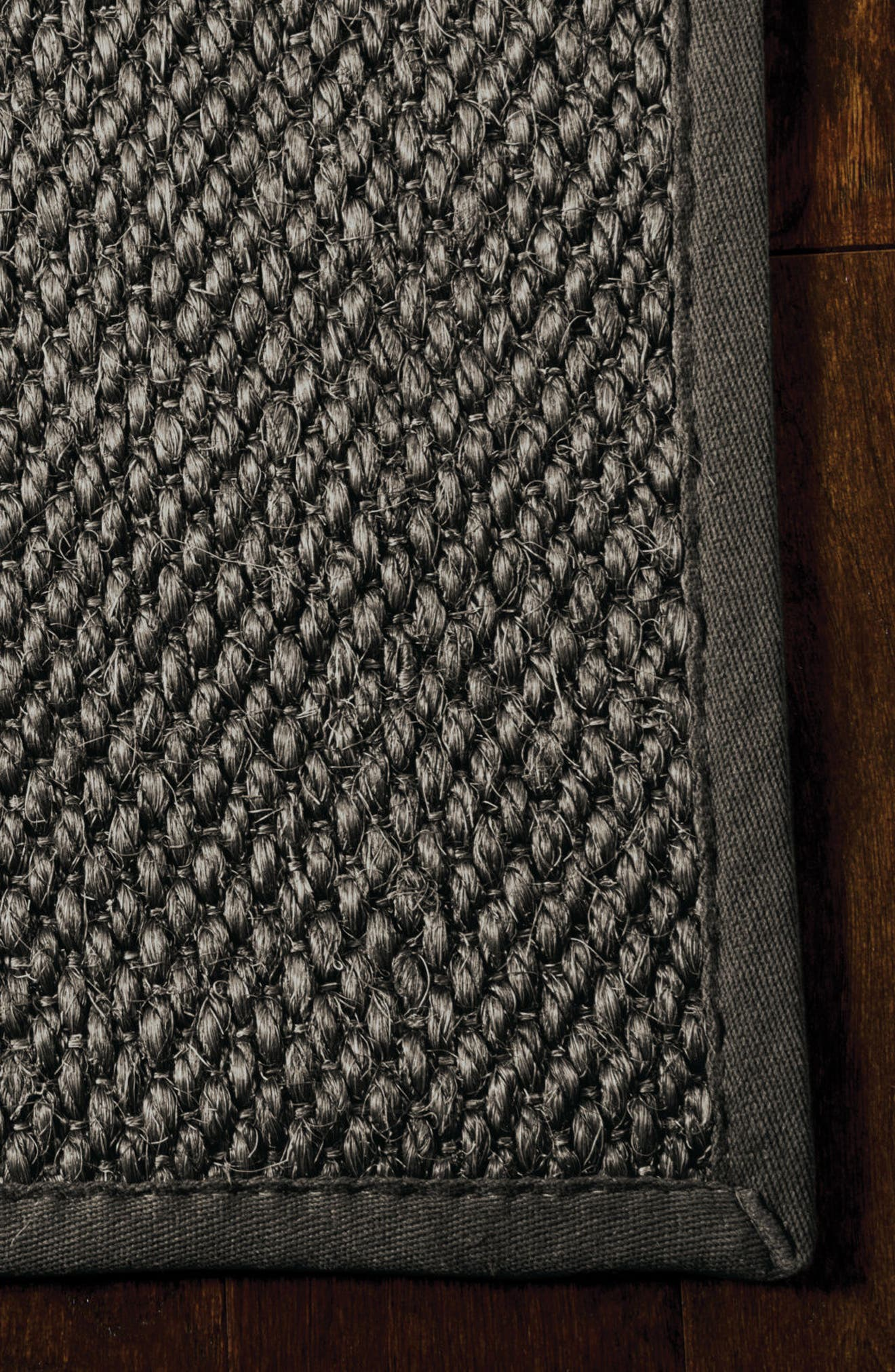 Kerala Java Sisal Area Rug,                             Alternate thumbnail 3, color,                             Charcoal