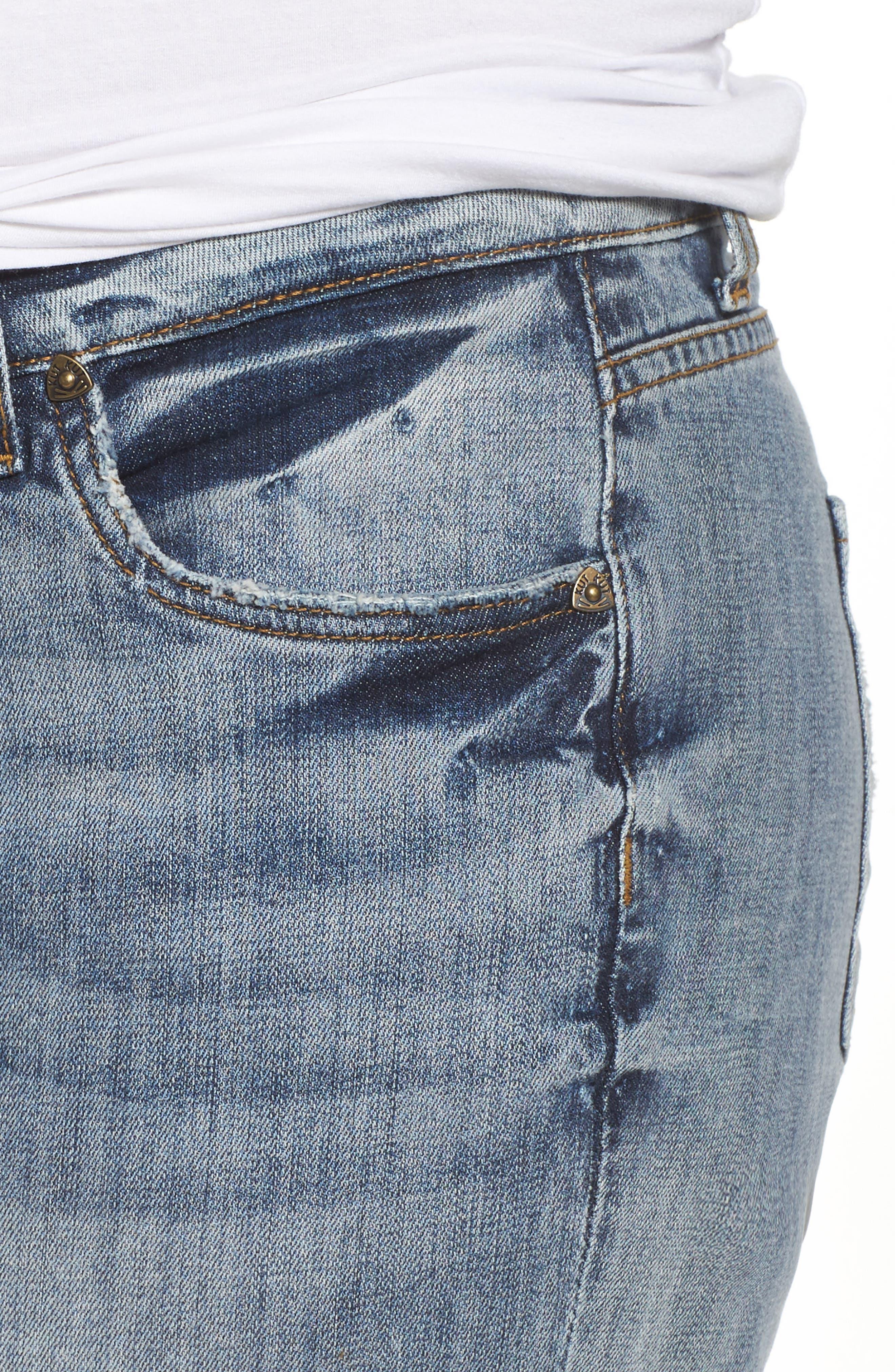 Alternate Image 4  - KUT from the Kloth Catherine Stretch Distressed Boyfriend Jeans (Regarded) (Plus Size)