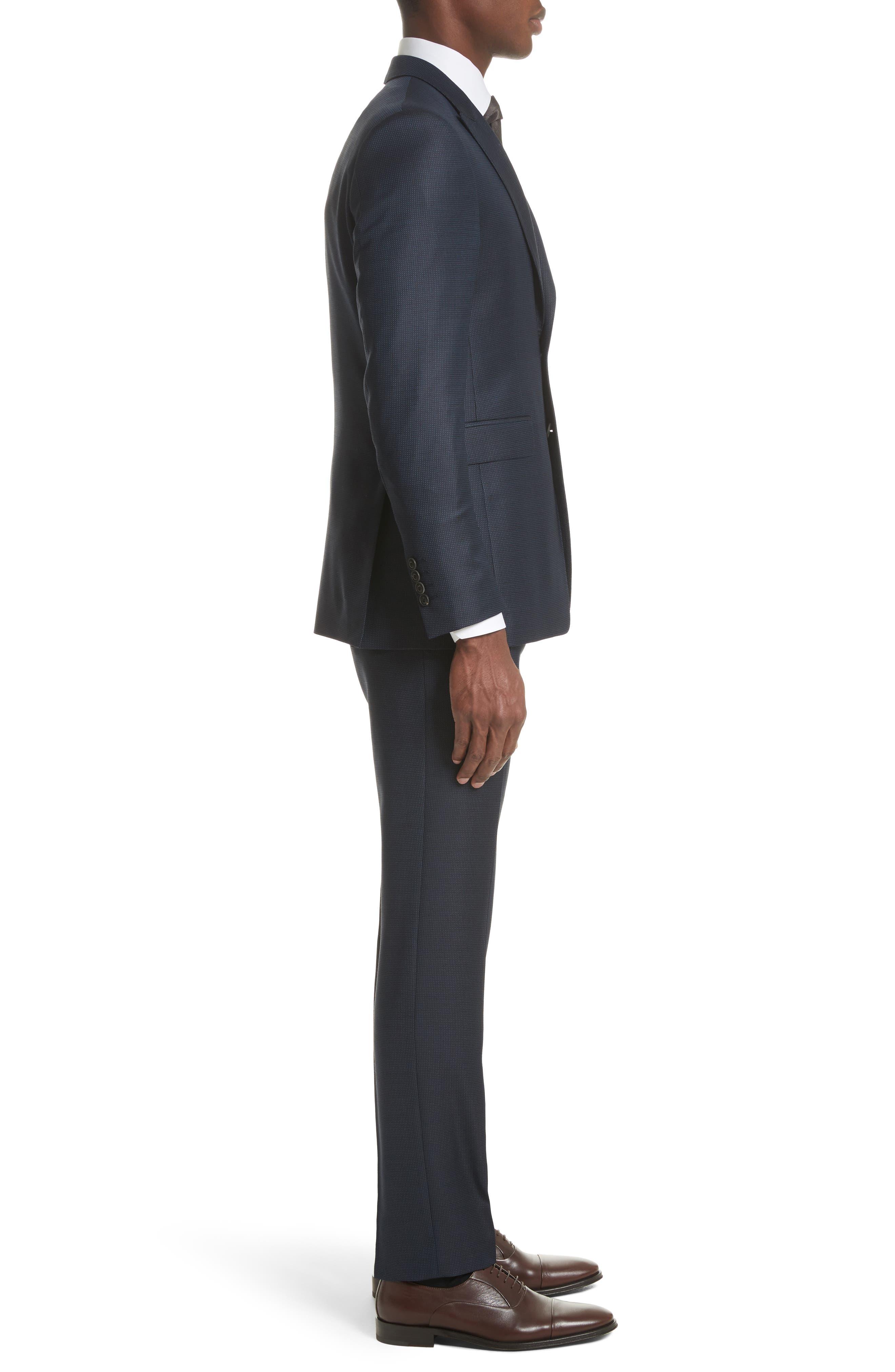 Alternate Image 3  - Burberry Millbank Trim Fit Wool & Silk Suit