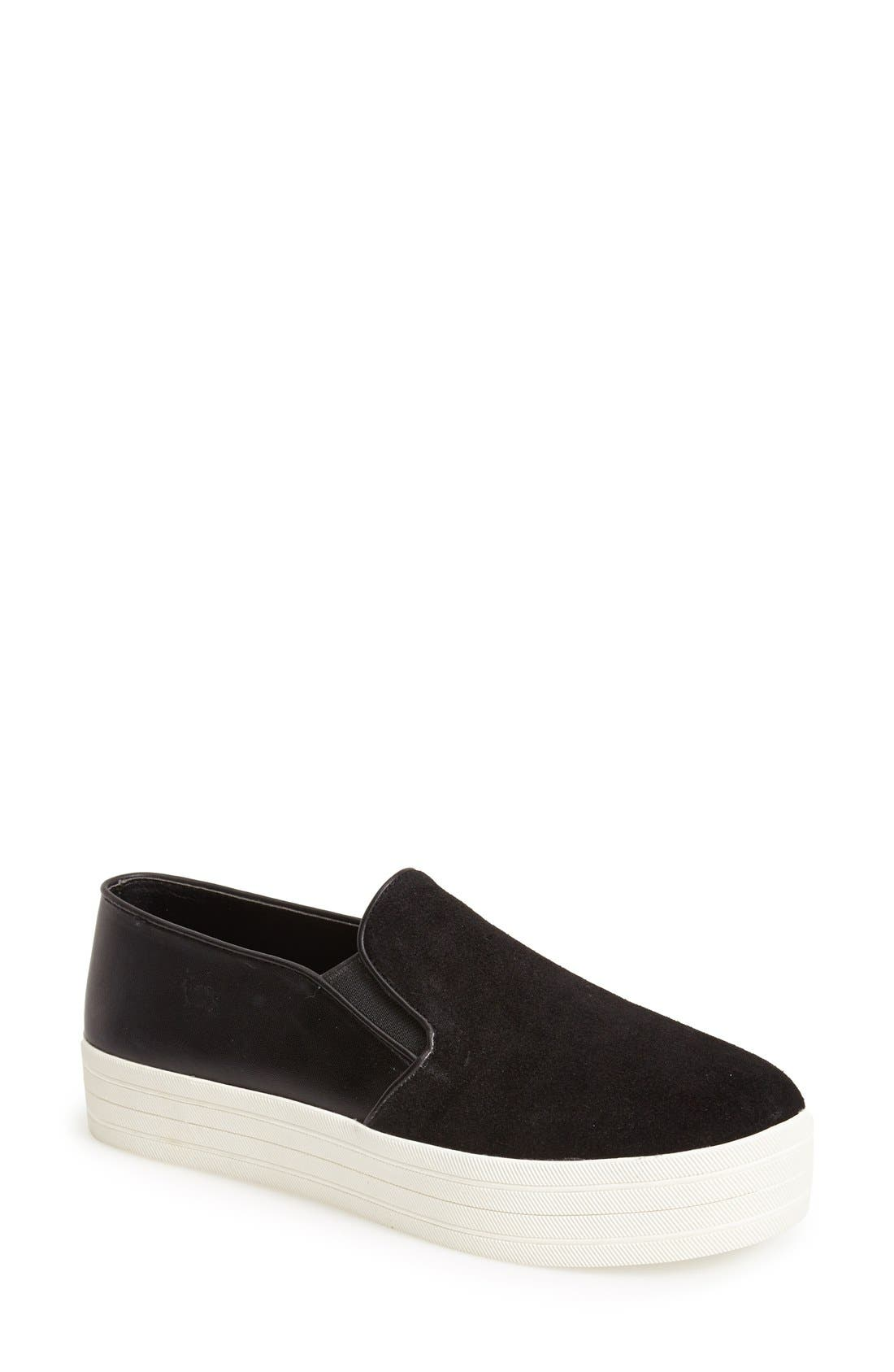 'Buhba' Slip-On Sneaker,                             Main thumbnail 1, color,                             Black Suede
