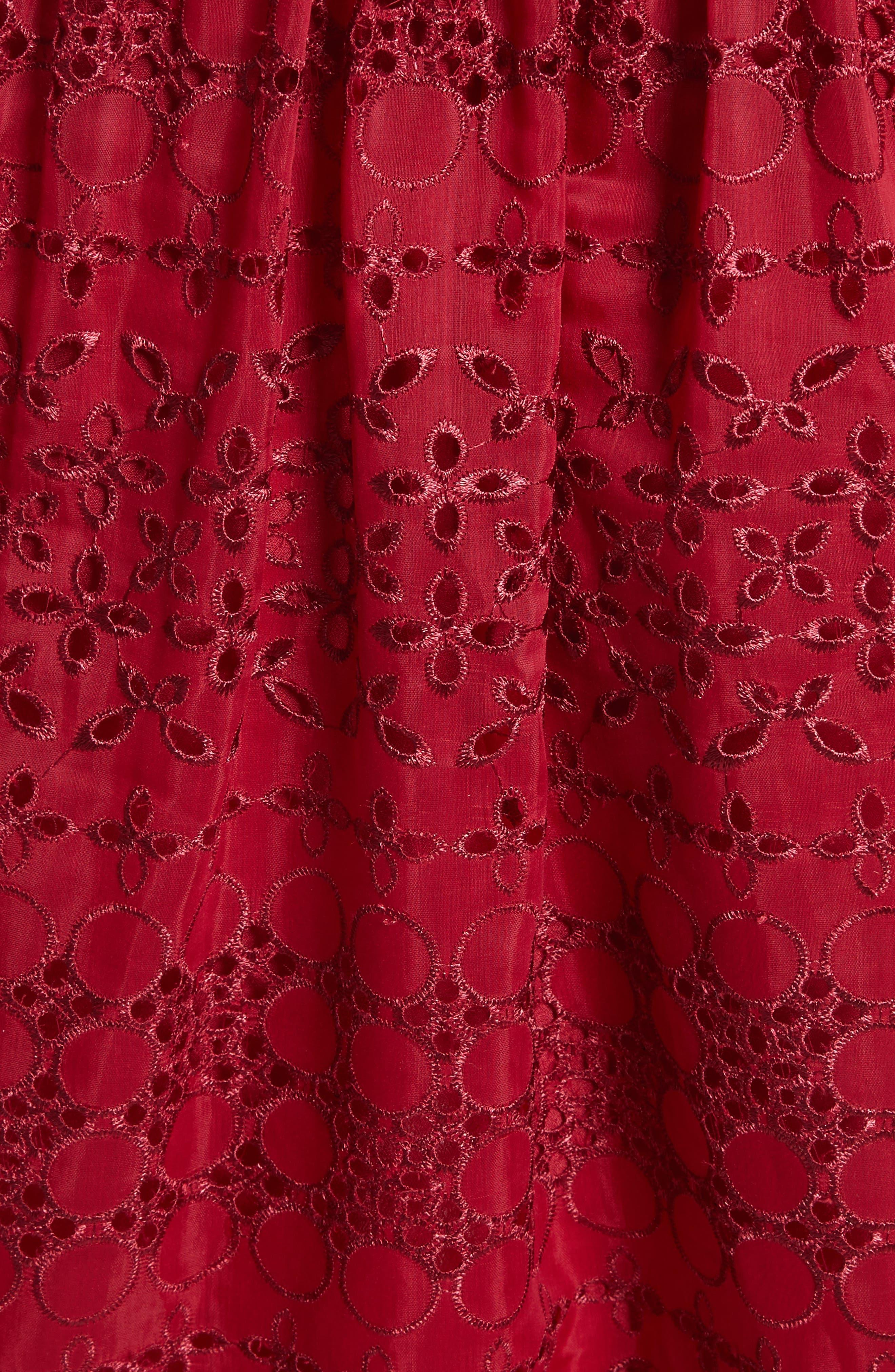 Cutout One-Shoulder Midi Dress,                             Alternate thumbnail 5, color,                             Raspberry Red