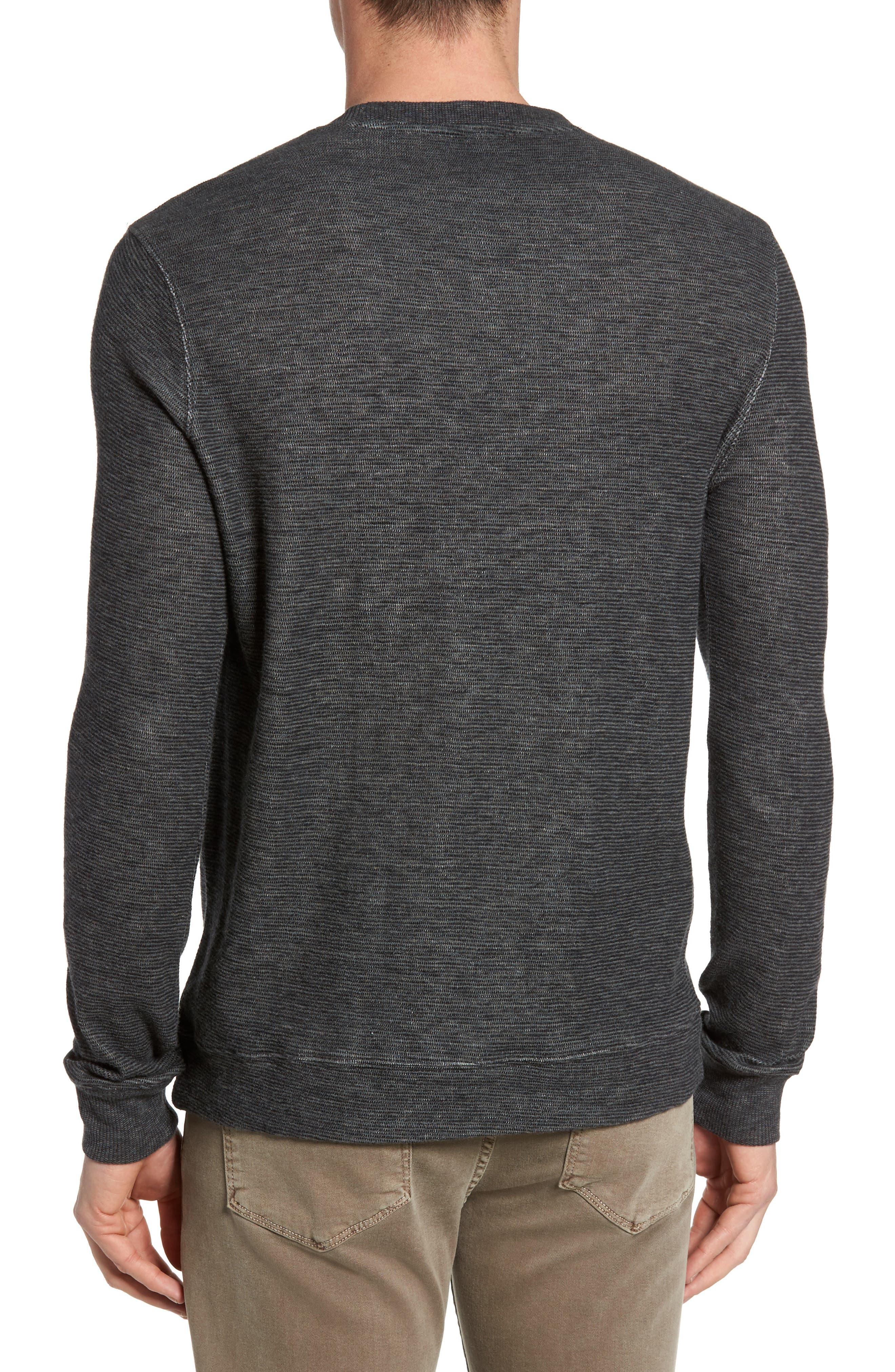 Ottoman Stripe T-Shirt,                             Alternate thumbnail 2, color,                             Charcoal