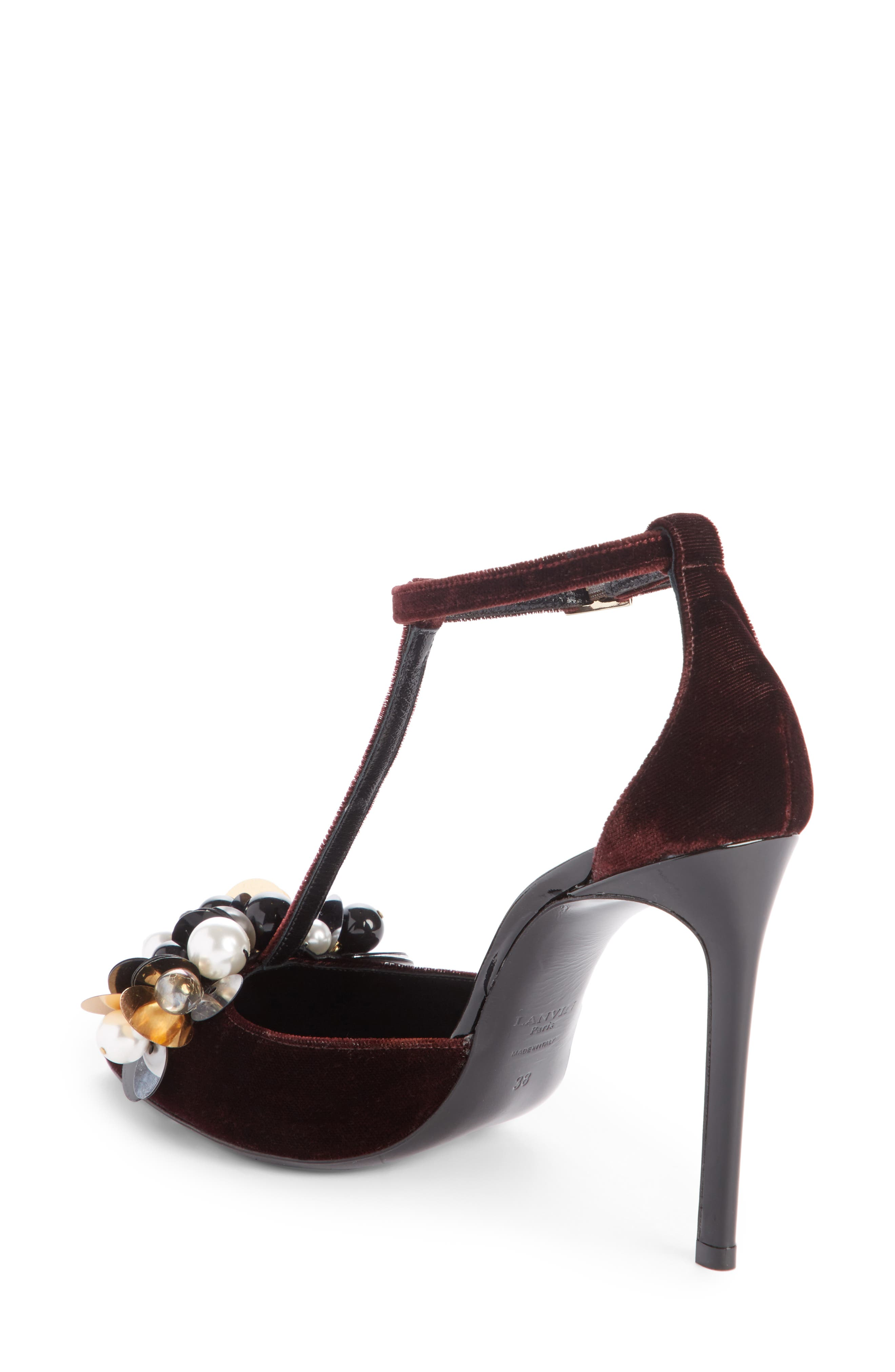 Alternate Image 2  - Lanvin Pearl T-Strap Pump (Women)