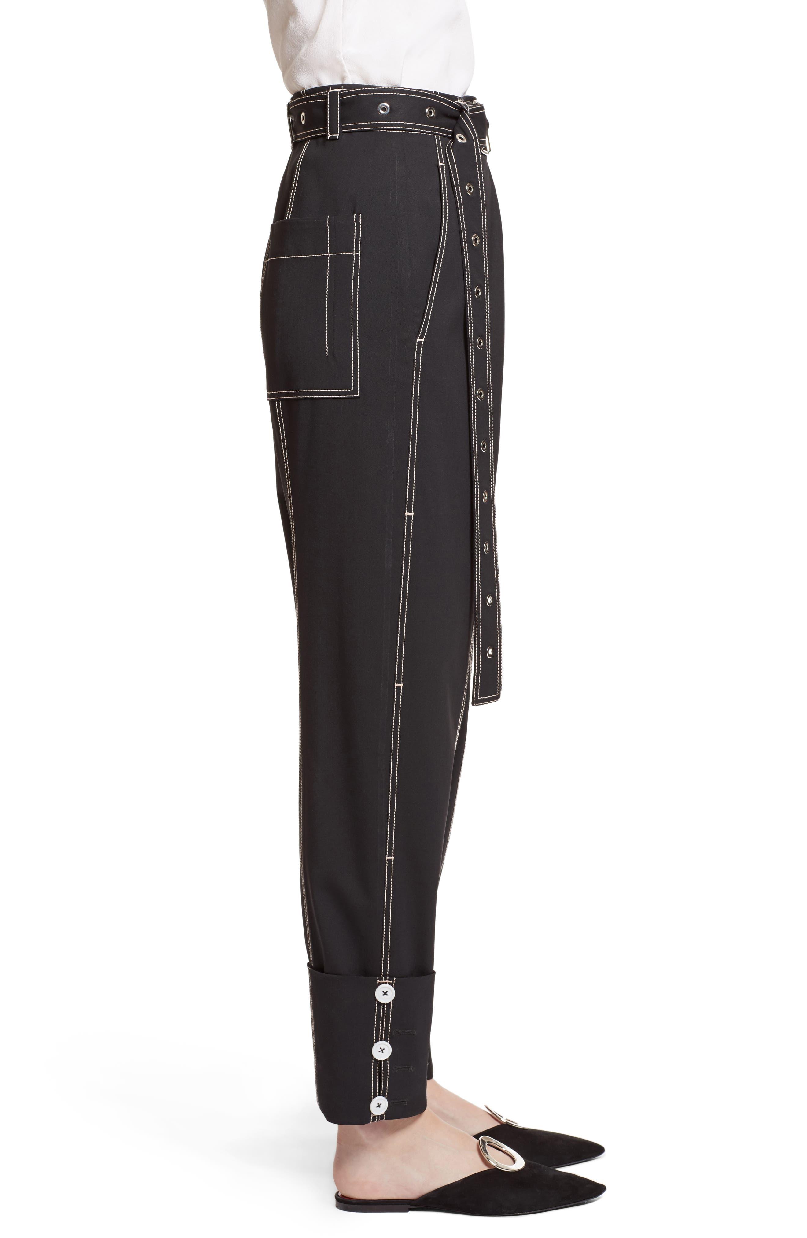 Alternate Image 4  - Proenza Schouler Cuff Straight Leg Pants
