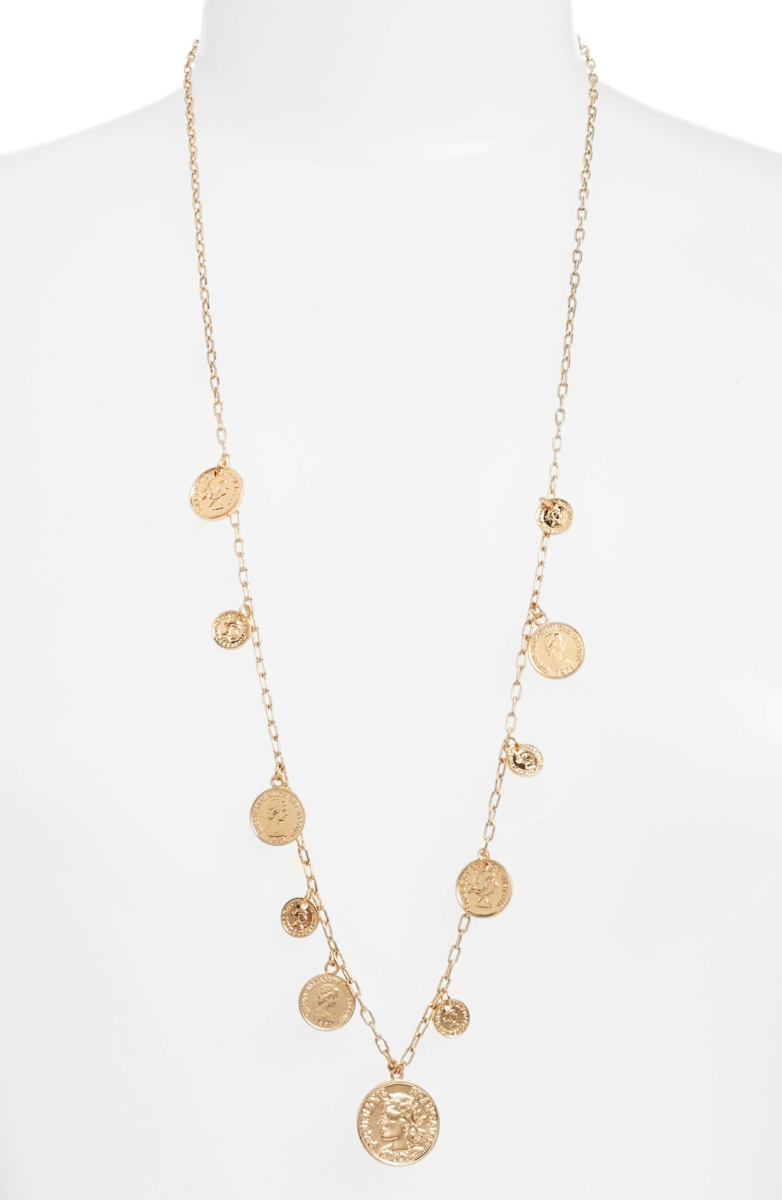 Ettika Coin Charm Necklace