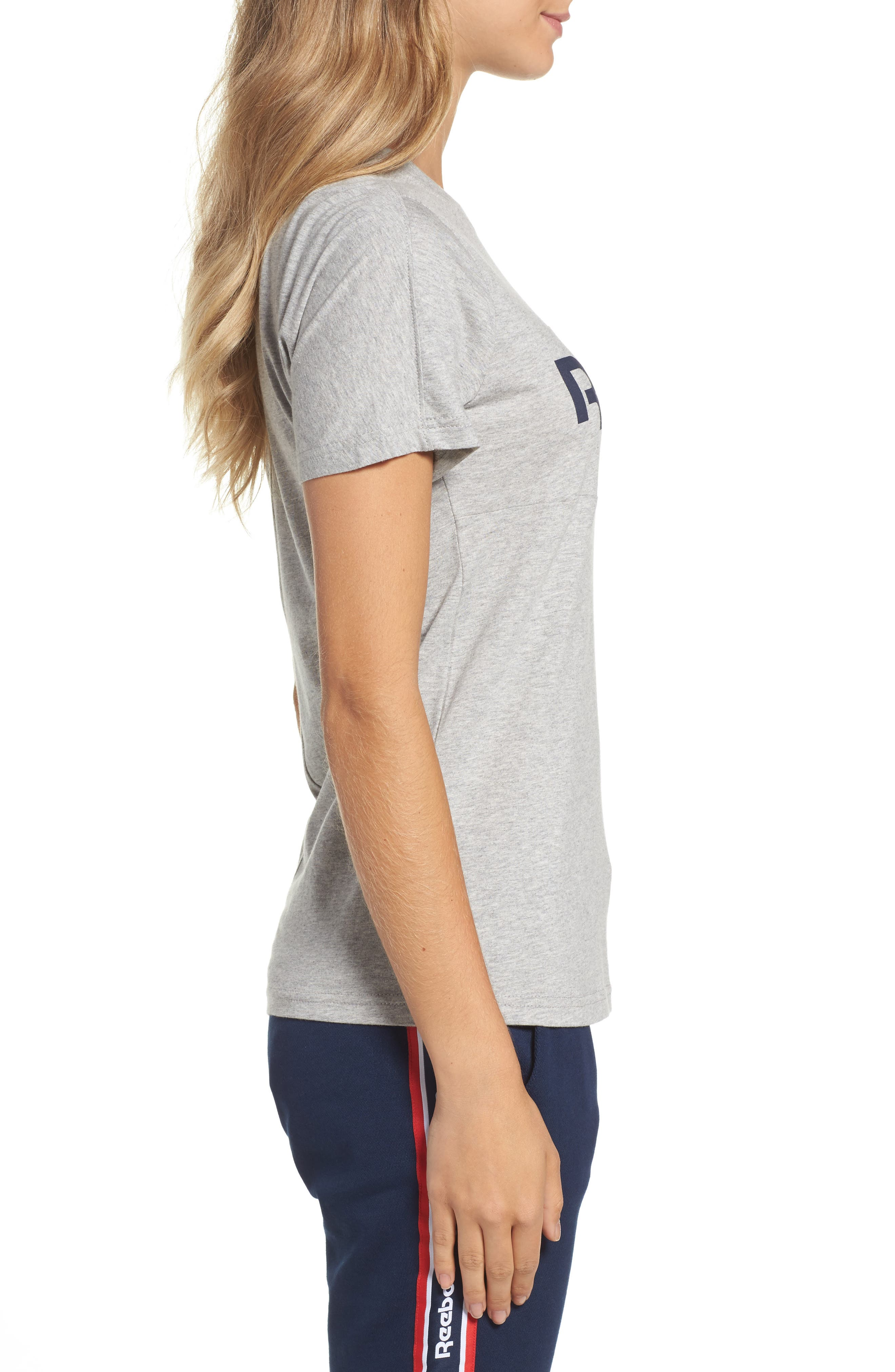 Classic Logo Tee,                             Alternate thumbnail 3, color,                             Medium Grey Heather