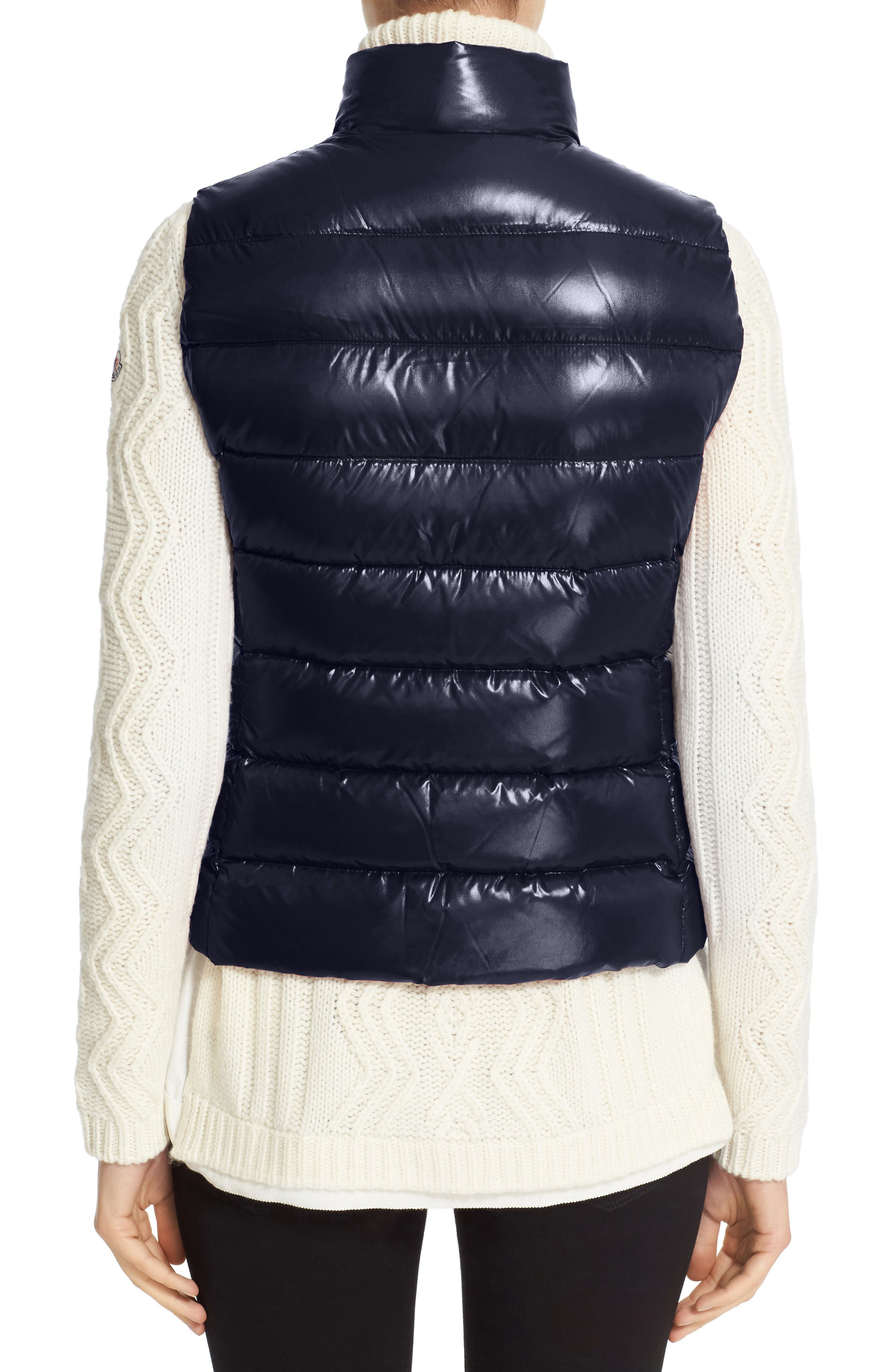 Ghany Water Resistant Shiny Nylon Down Puffer Vest,                             Alternate thumbnail 2, color,                             Navy