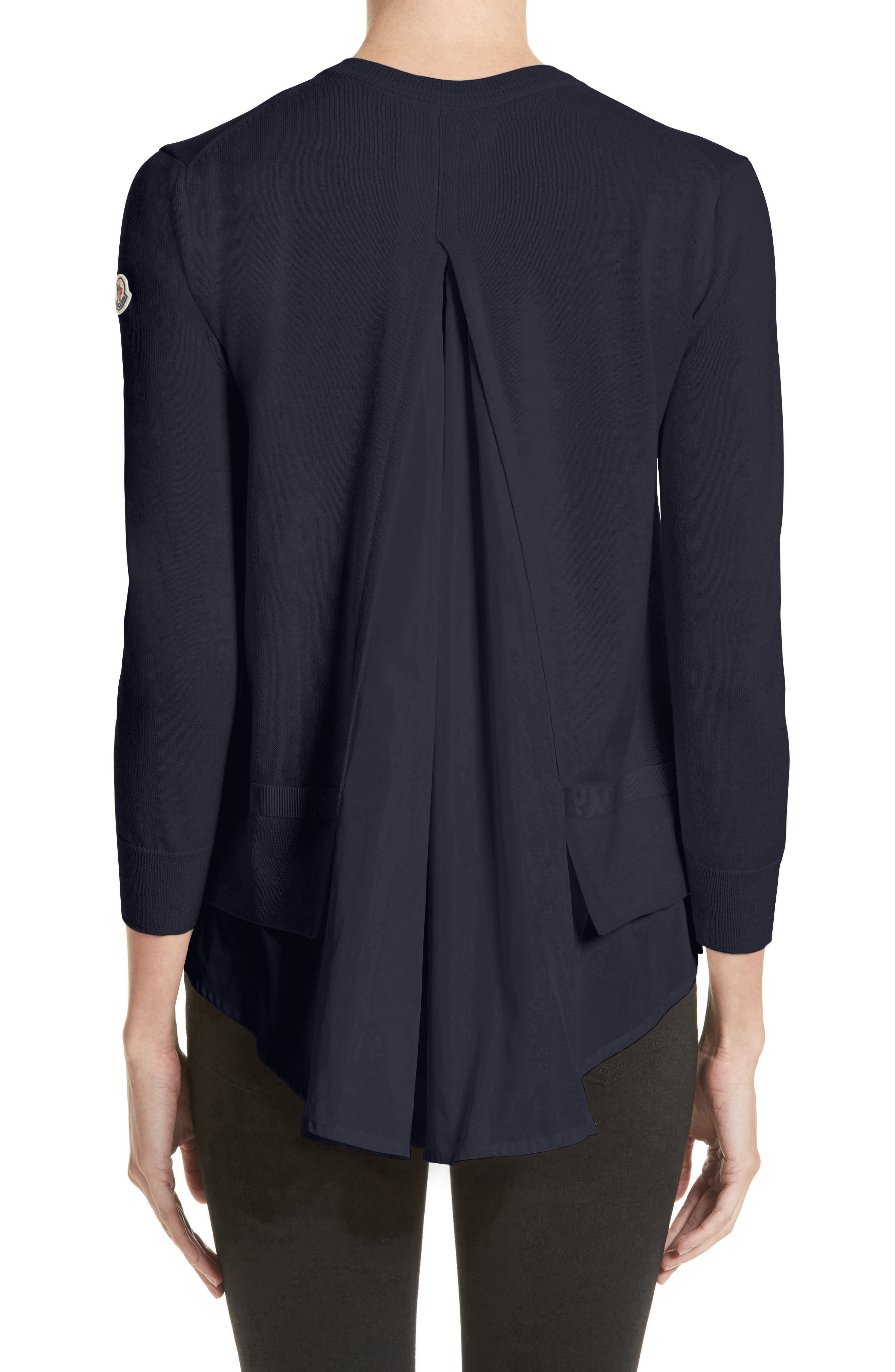 Tricot Cardigan,                             Alternate thumbnail 2, color,                             Navy