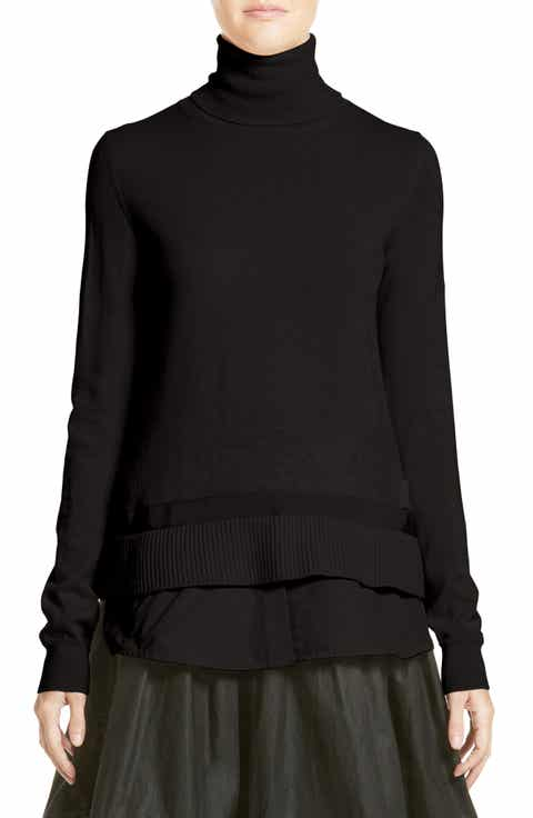 Moncler Ciclista Tricot Knit Wool Turtleneck Sweater