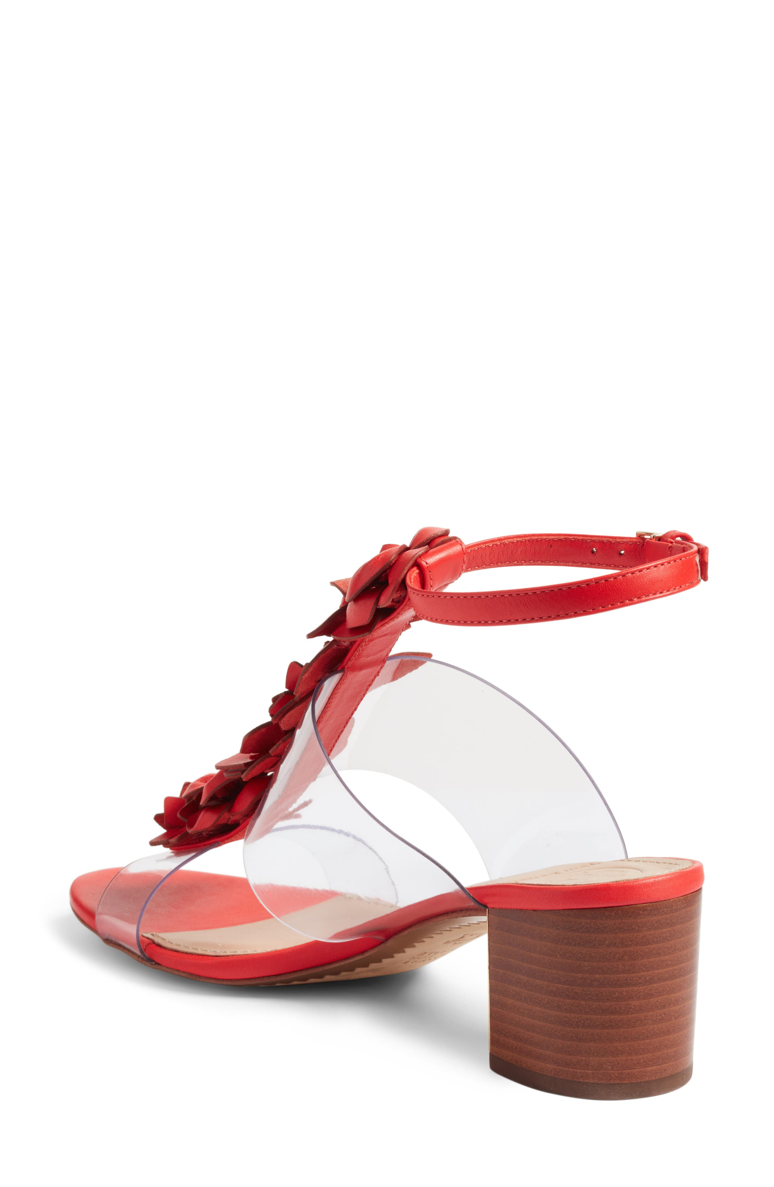Blossom Sandal,                             Alternate thumbnail 5, color,                             Red Volcano/ Clear