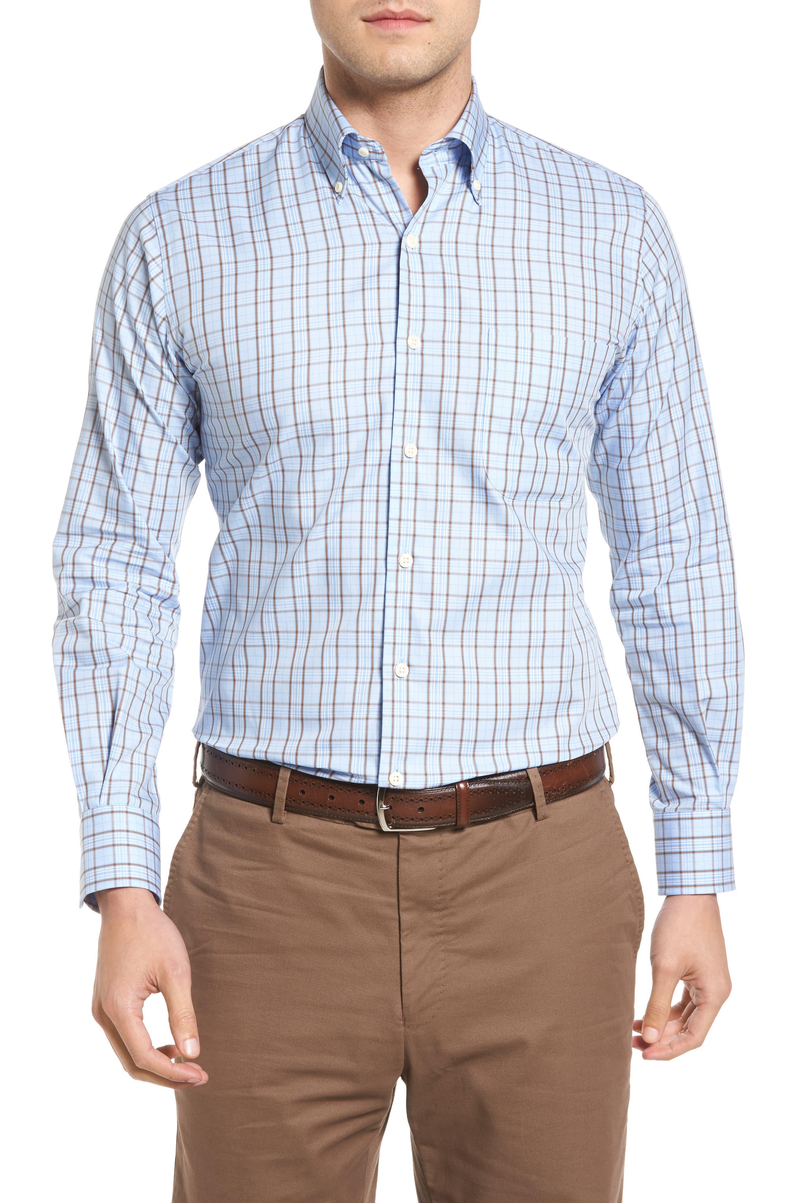 PETER MILLAR Regular Fit Highland Glen Plaid Sport Shirt