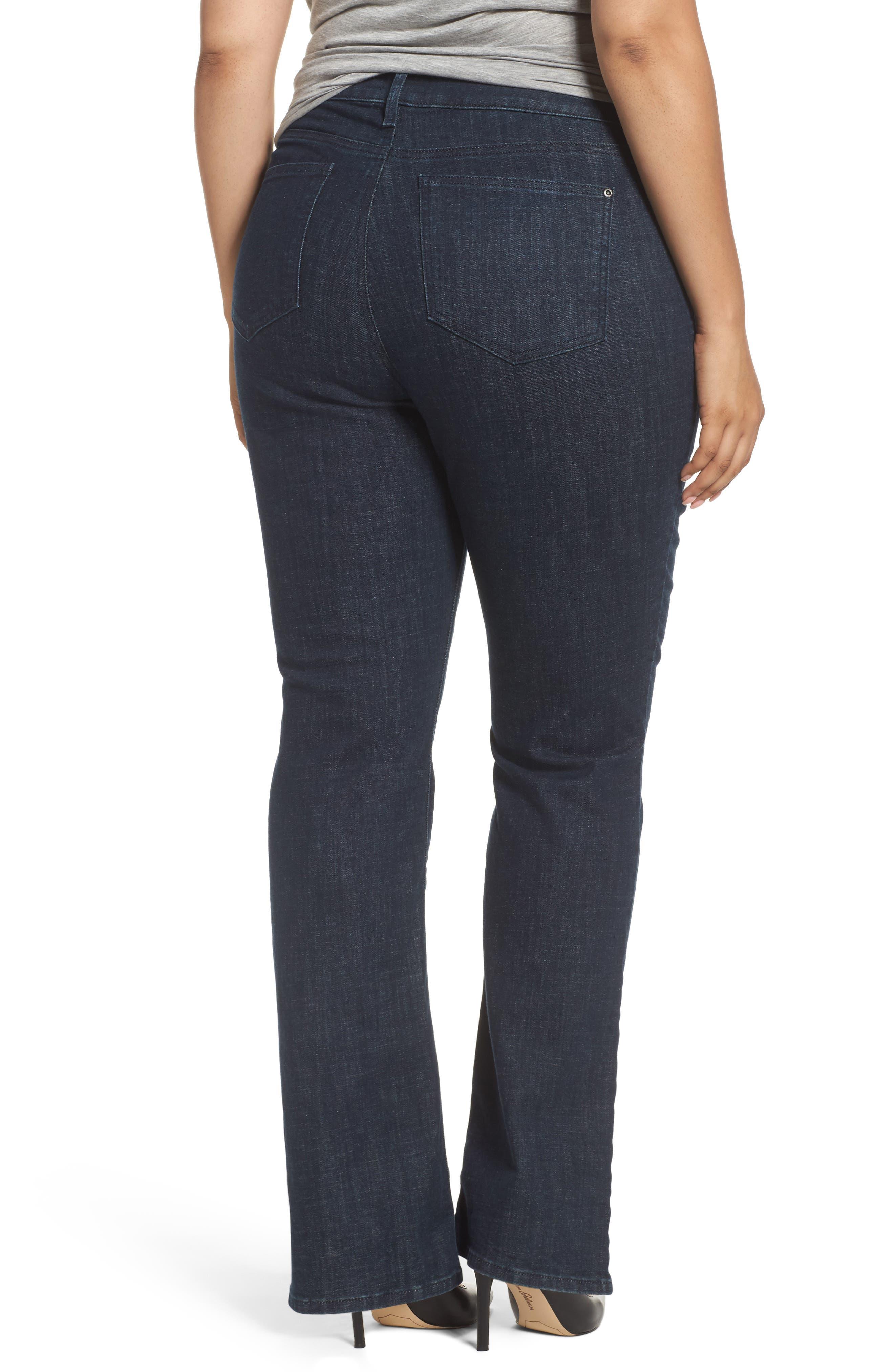 Alternate Image 2  - NYDJ Barbara Stretch Bootcut Jeans (Plus Size)