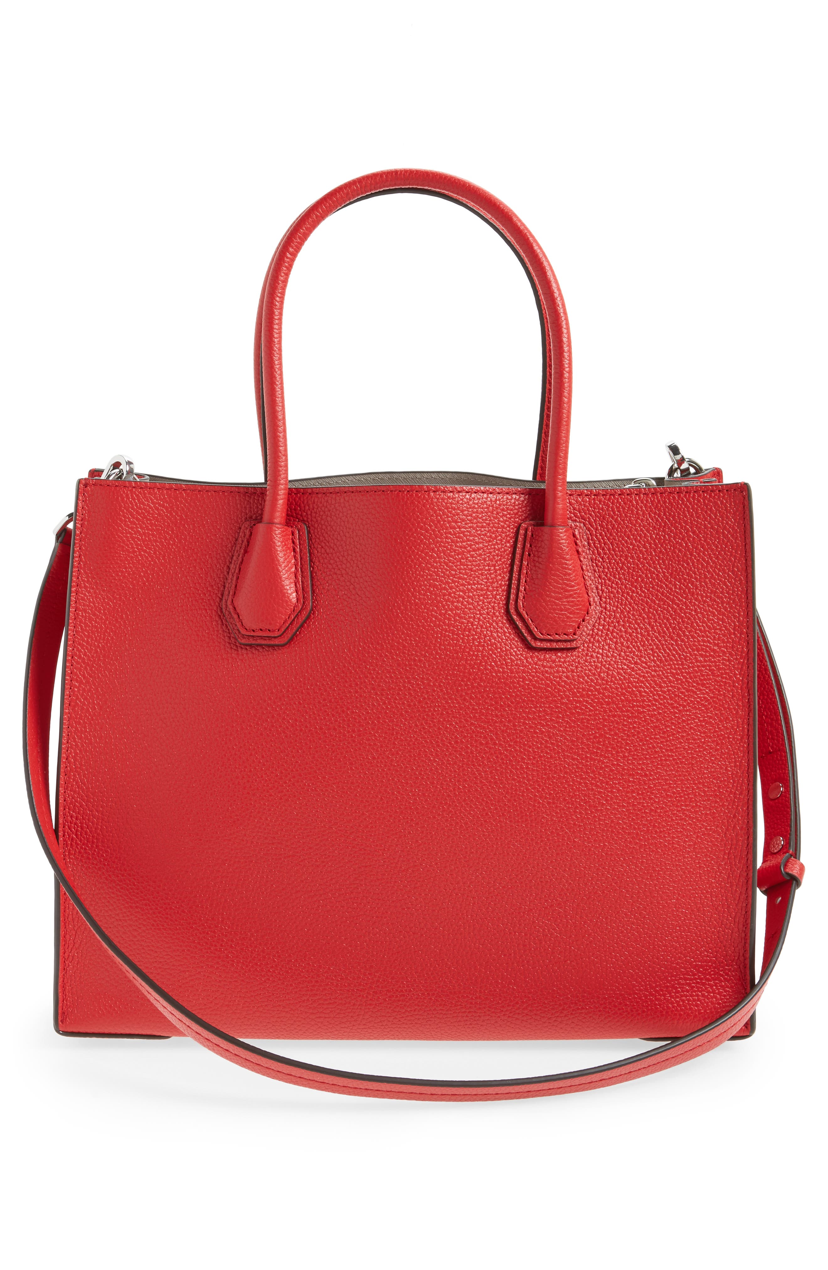 'Large Mercer' Tote,                             Alternate thumbnail 2, color,                             Bright Red