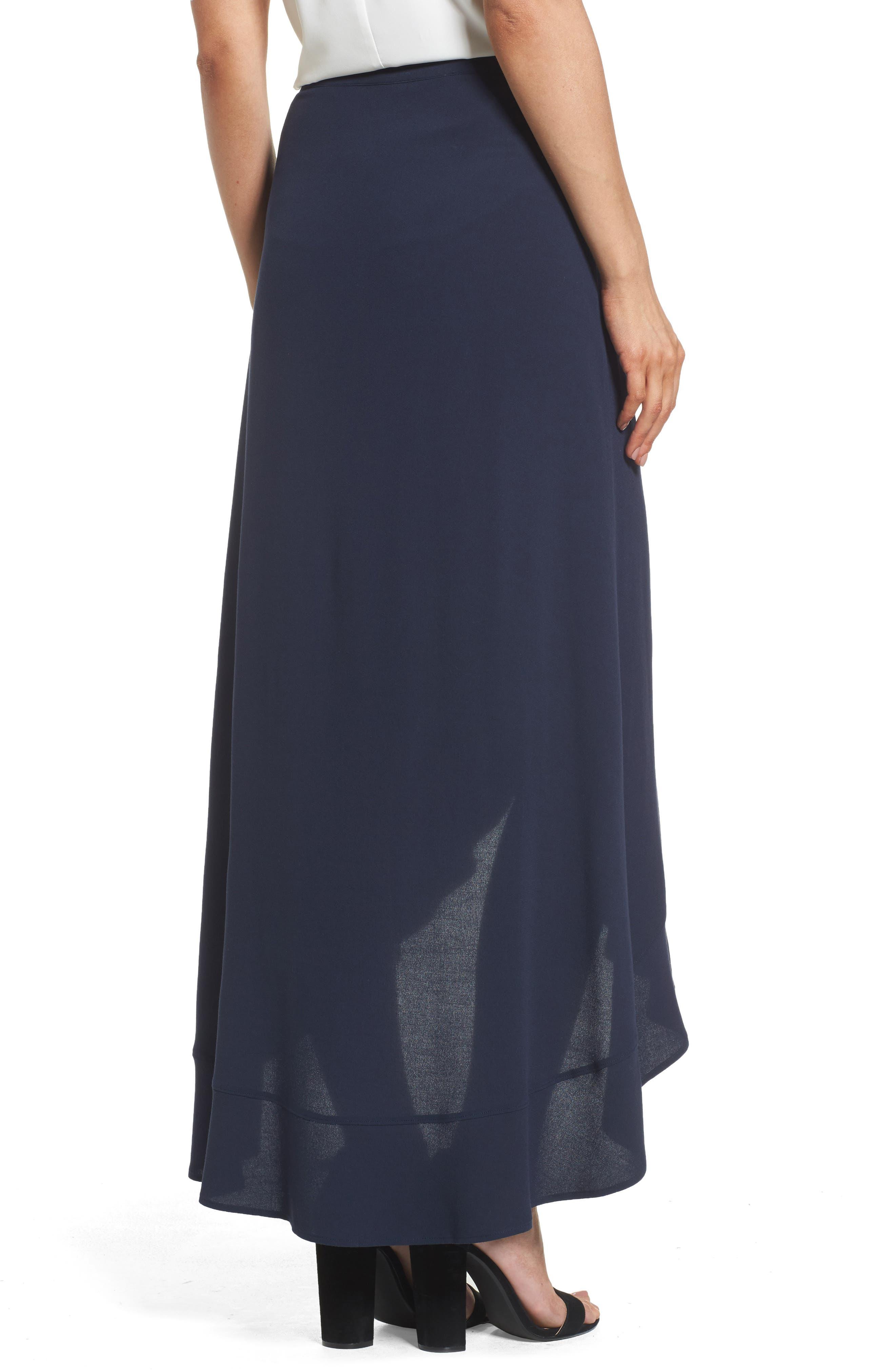 Ruffle Wrap Skirt,                             Alternate thumbnail 2, color,                             Navy Sapphire