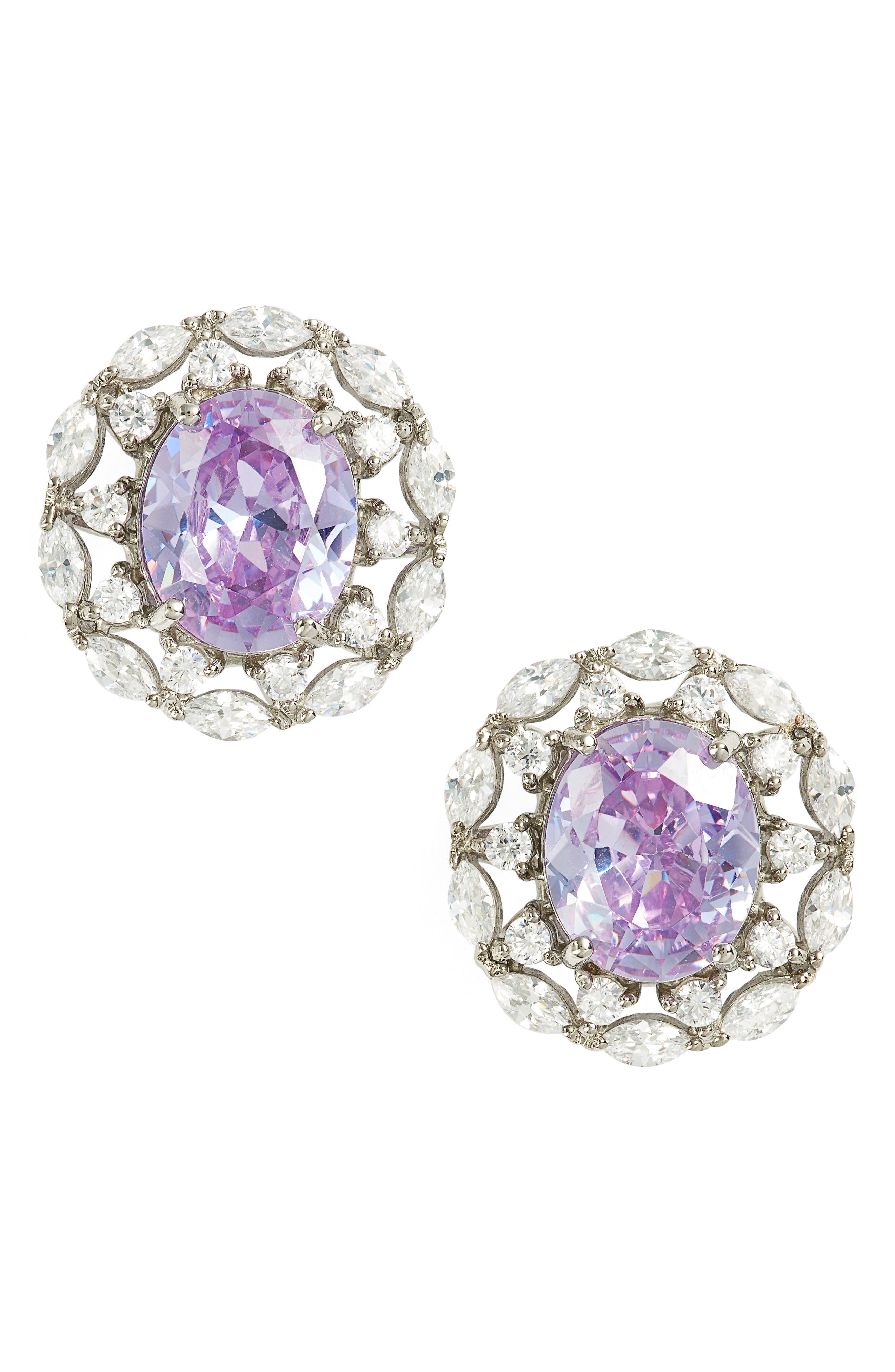Nina Estate Button Earrings