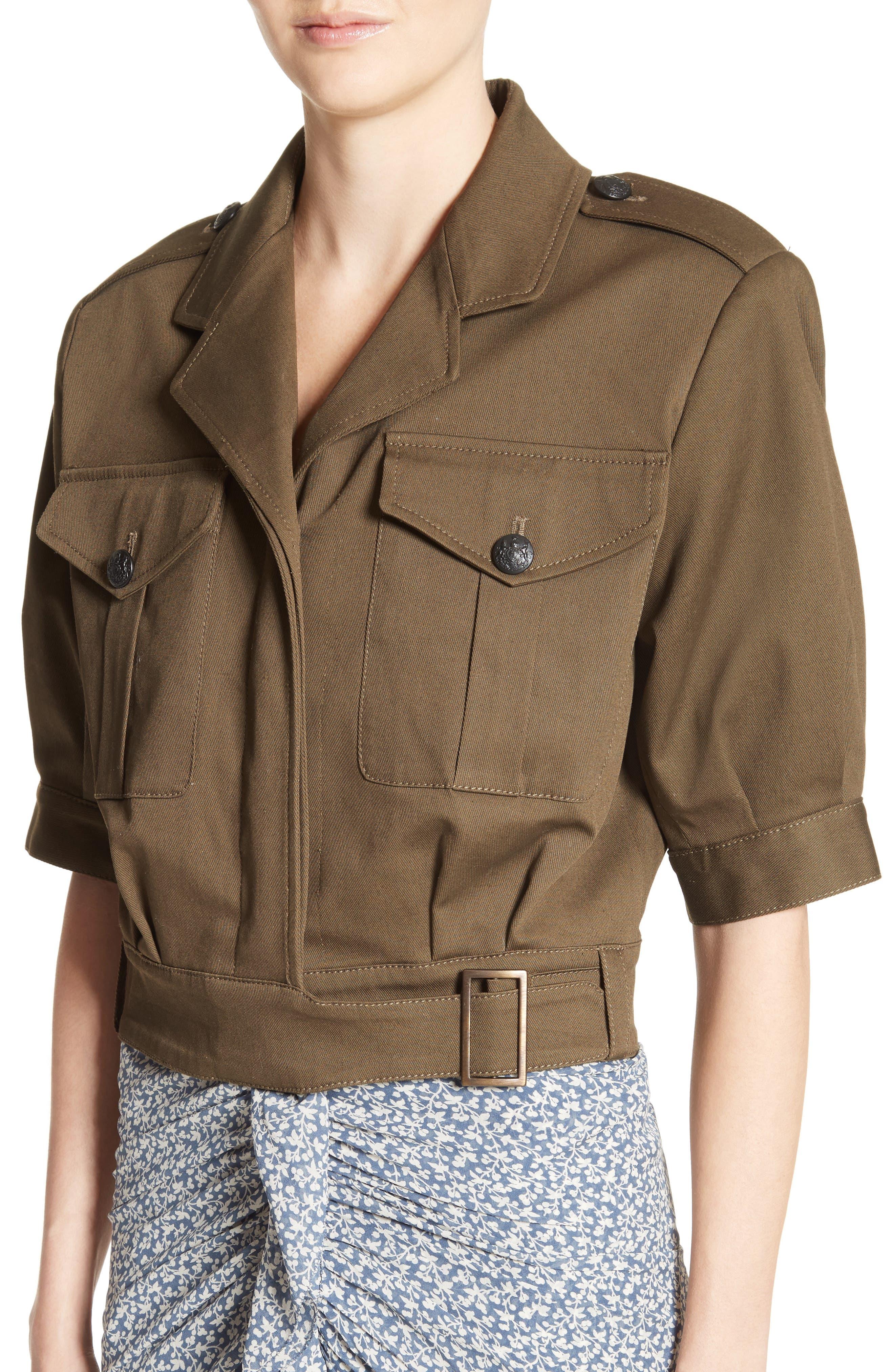 Fleet Military Jacket,                             Alternate thumbnail 5, color,                             Army Green