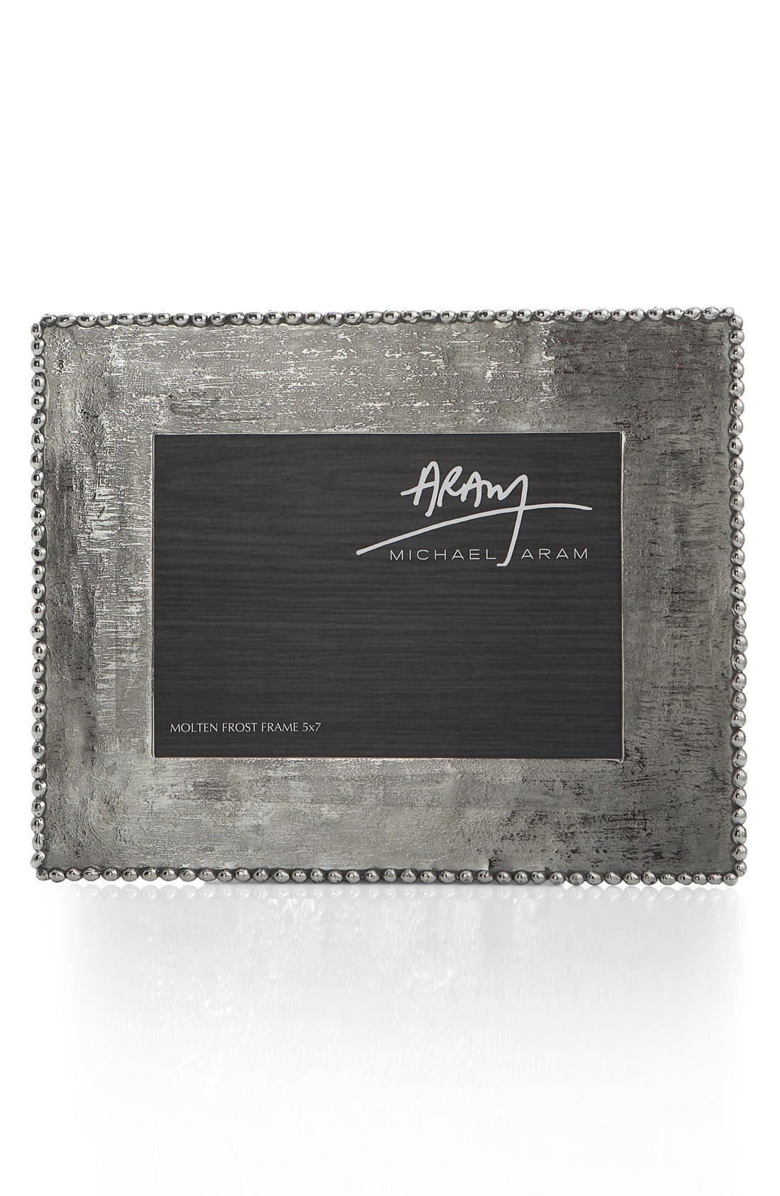 'Molten Frost' Picture Frame,                             Main thumbnail 1, color,                             Silver