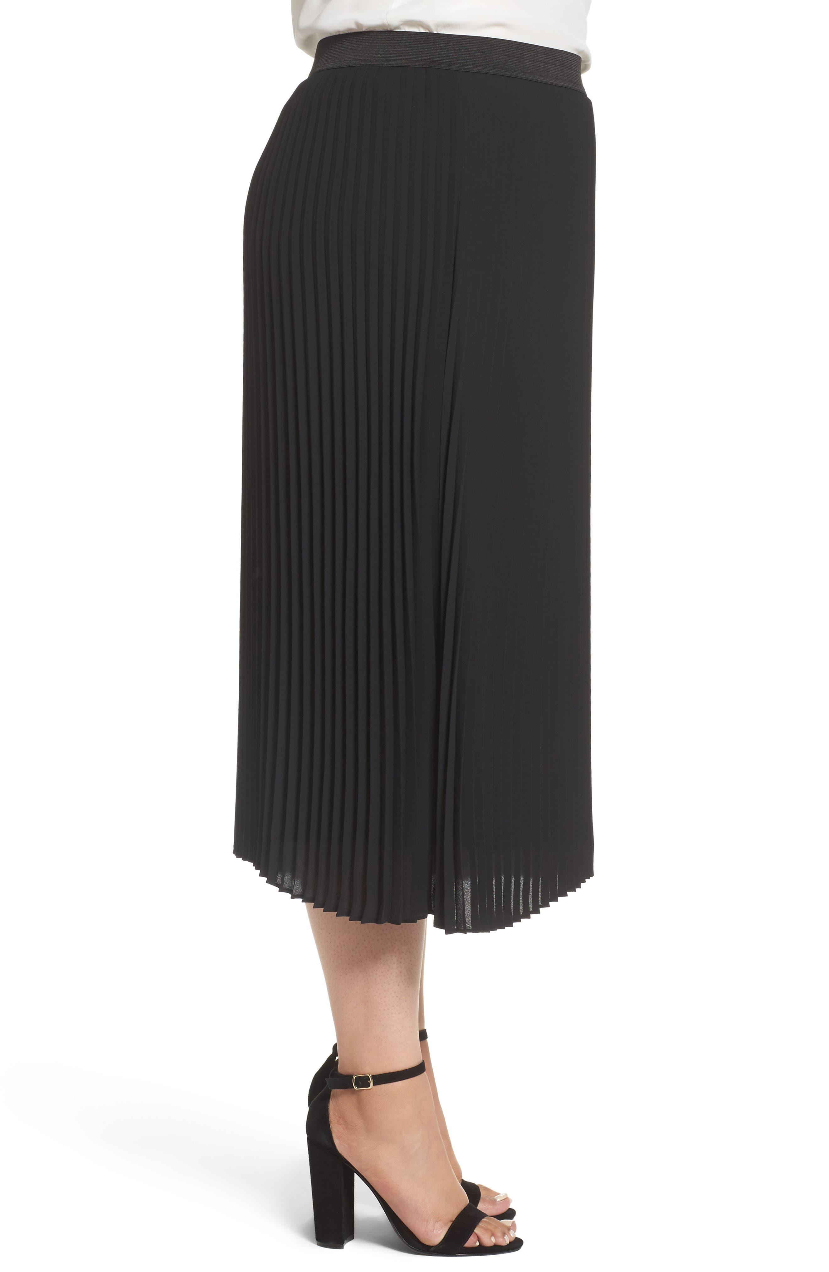 Alternate Image 4  - Sejour Pleated Midi Skirt (Plus Size)