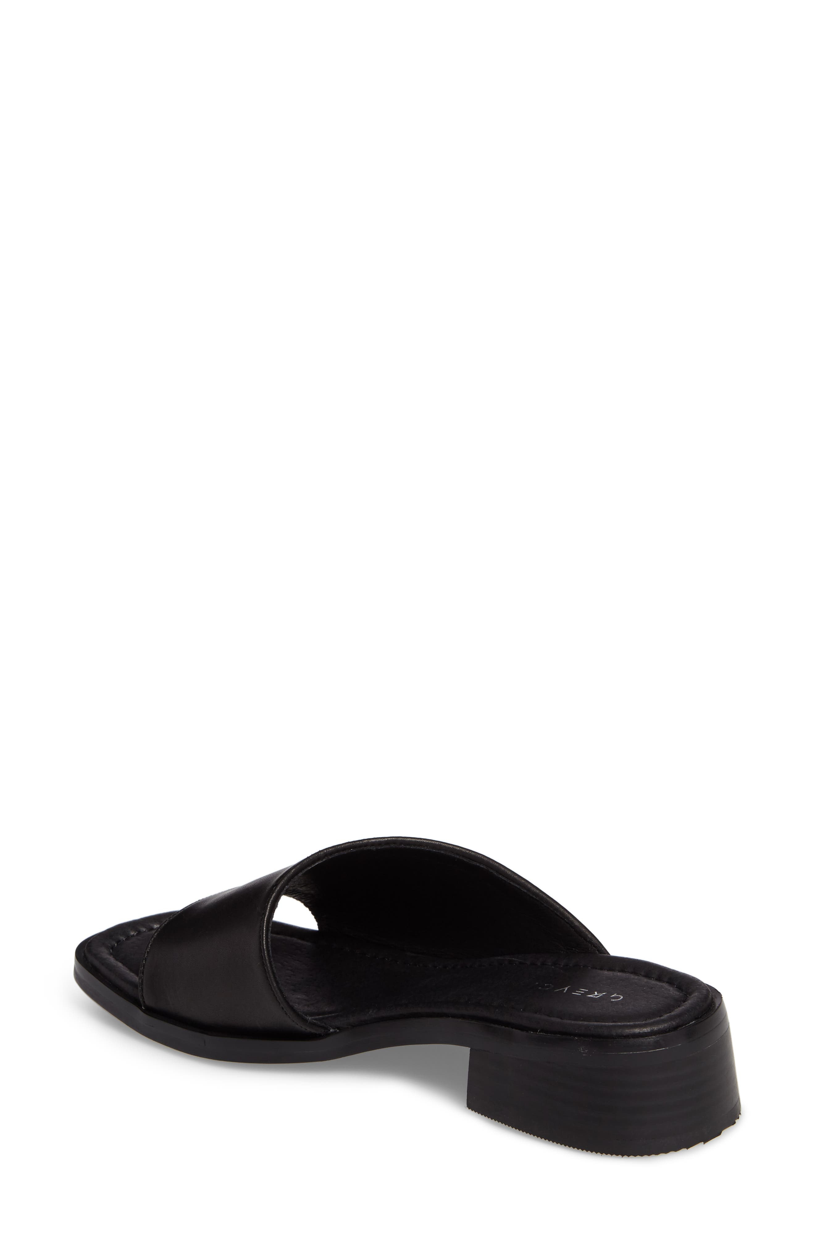 Paula Slide Sandal,                             Alternate thumbnail 2, color,                             Black