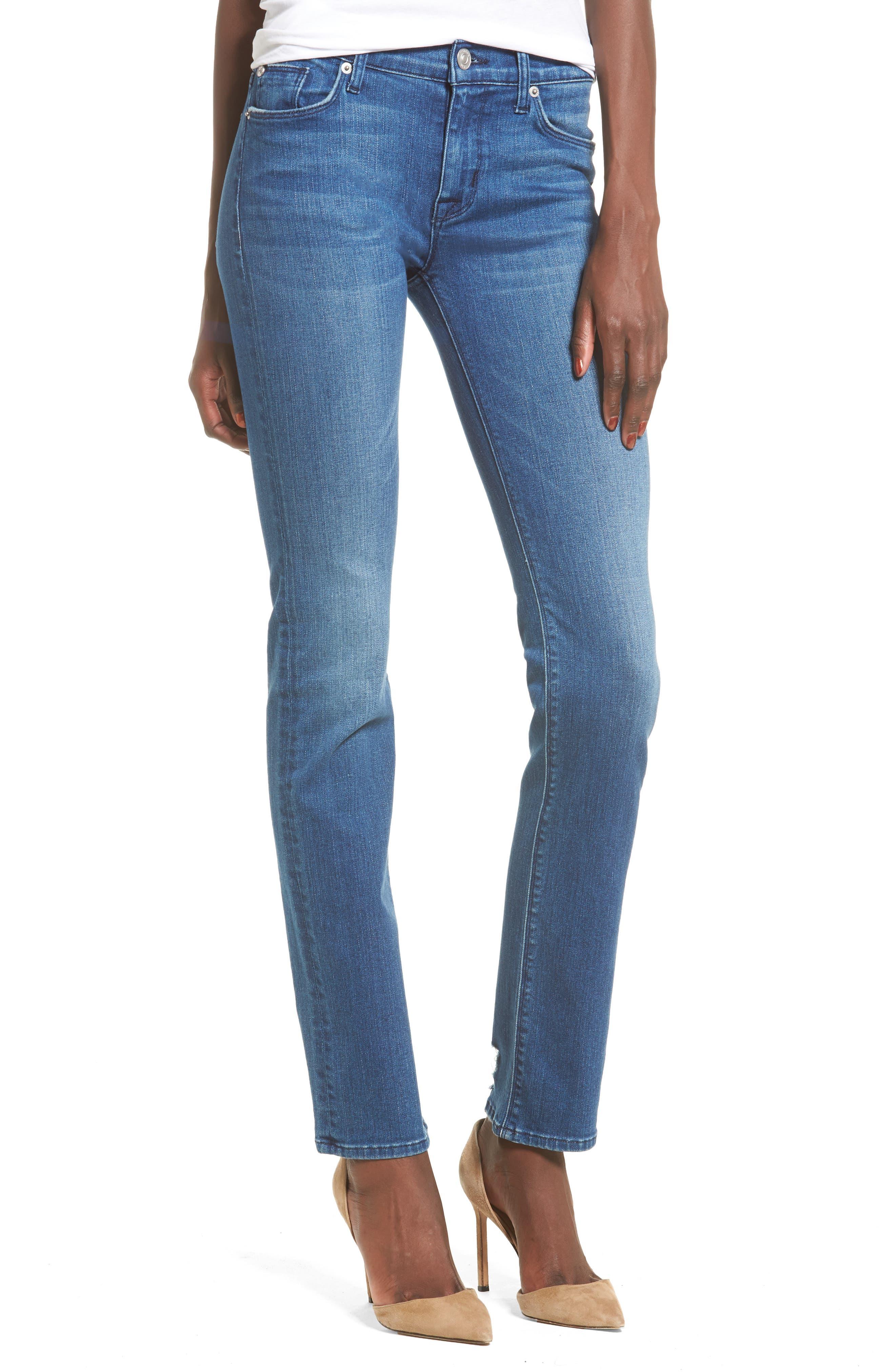 Tilda Cigarette Leg Jeans,                         Main,                         color, Blue Riot