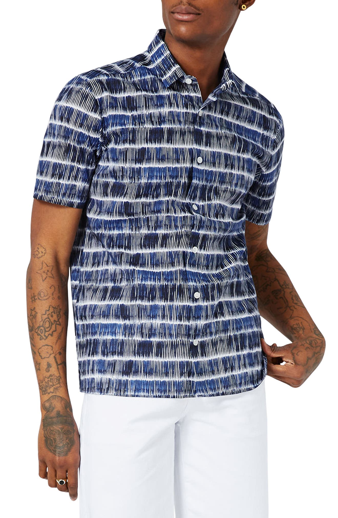 TOPMAN Stripe Cotton Shirt