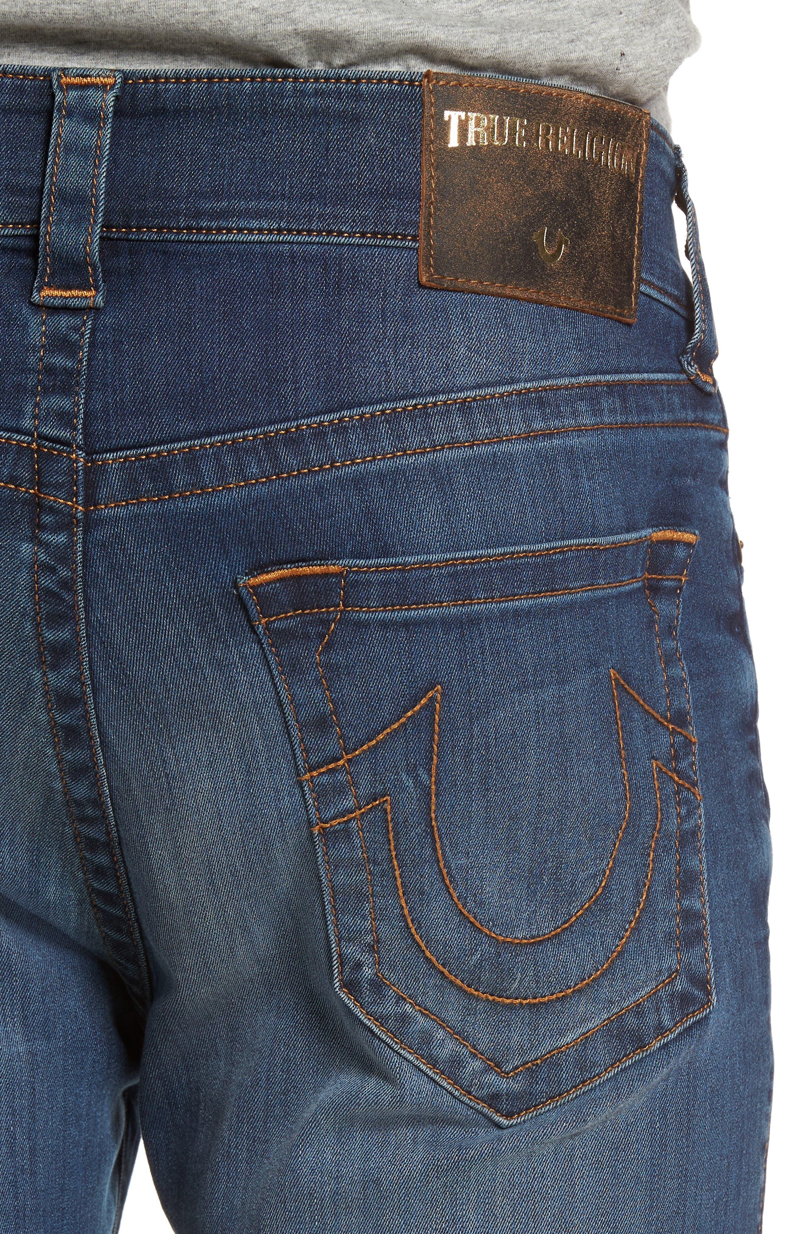 Alternate Image 4  - True Religion Brand Jeans Jack Skinny Fit Jeans (Desert Highway)