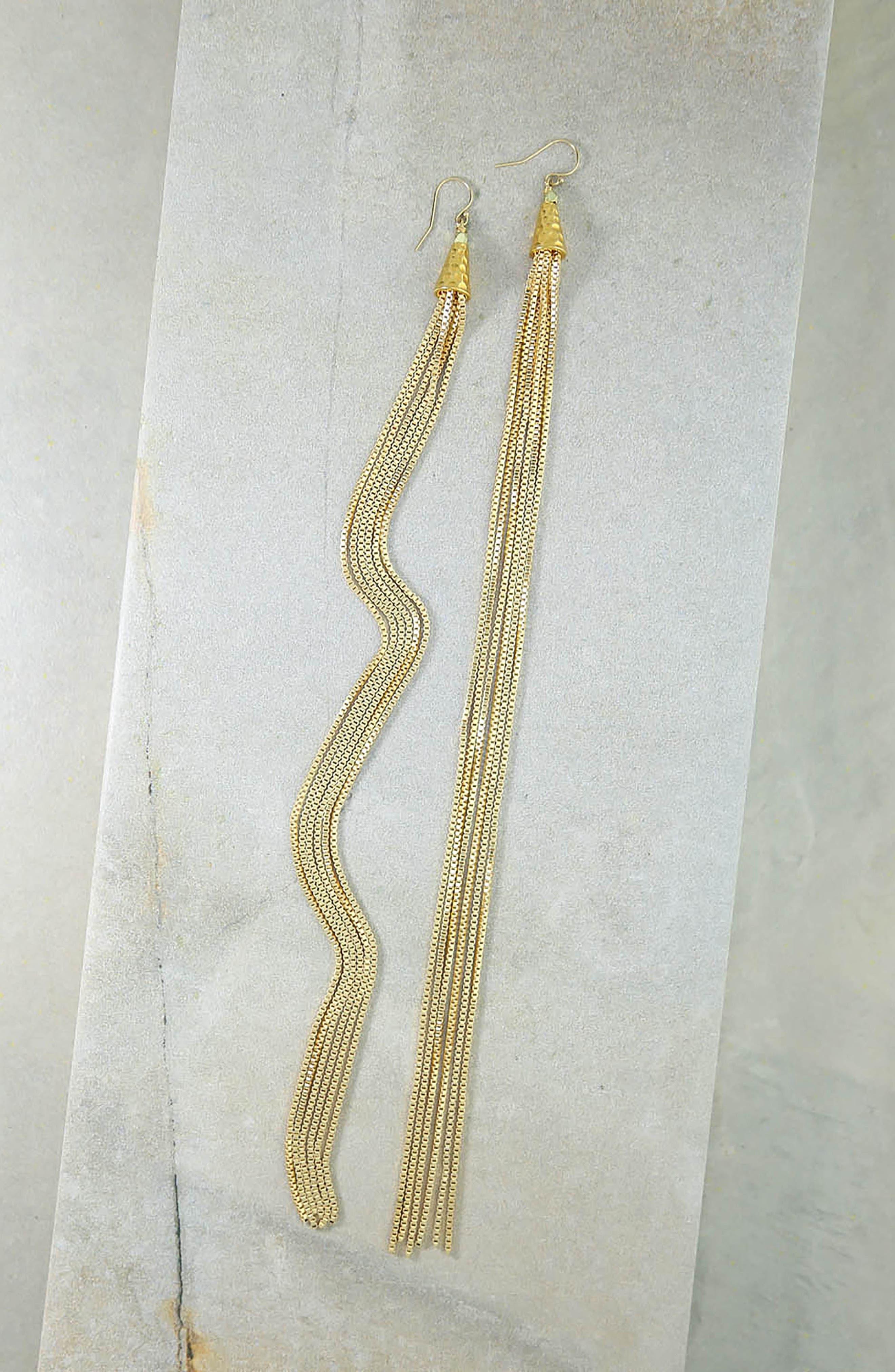 Calista Drop Earrings,                             Alternate thumbnail 3, color,                             Gold