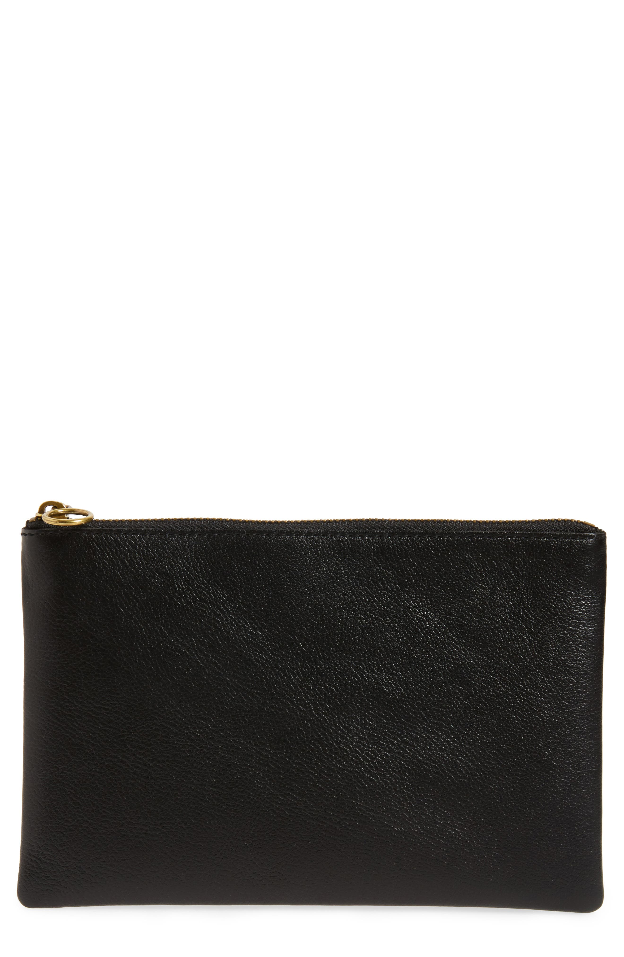 Alternate Image 1 Selected - Madewell The Leather Pouch Clutch