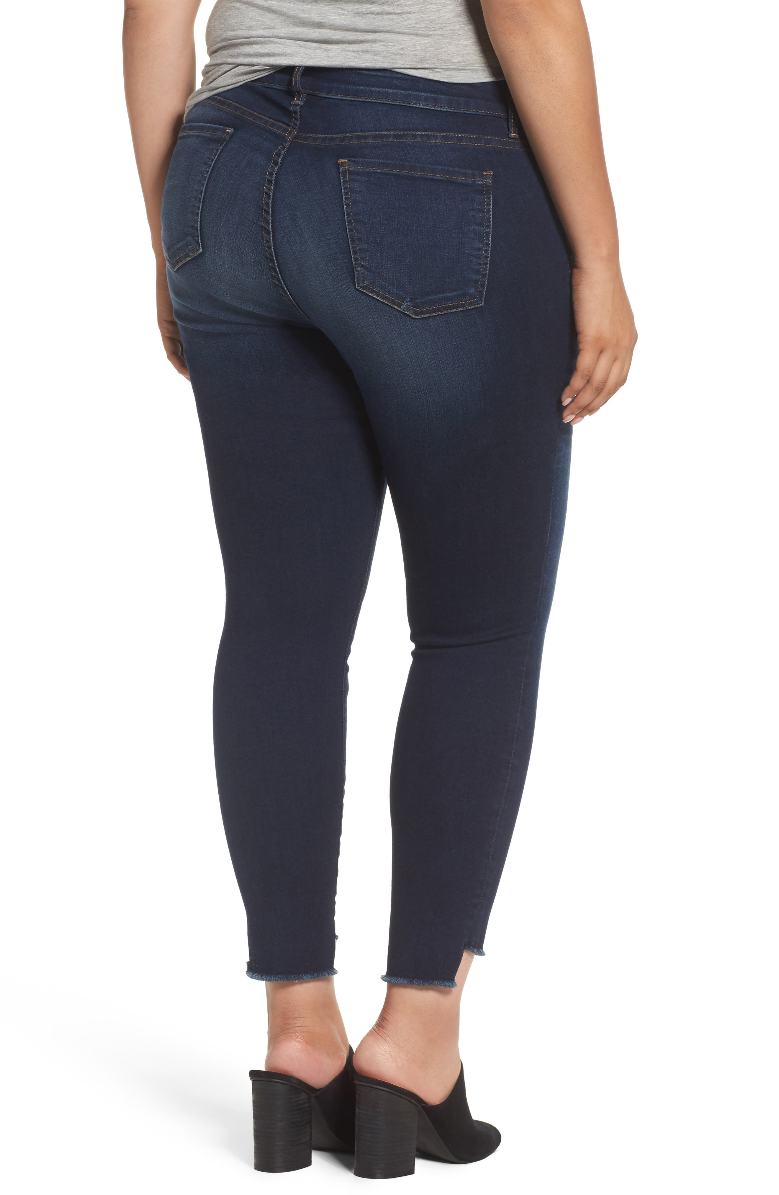 Connie Step Hem Skinny Ankle Jeans,                             Alternate thumbnail 2, color,                             Packable