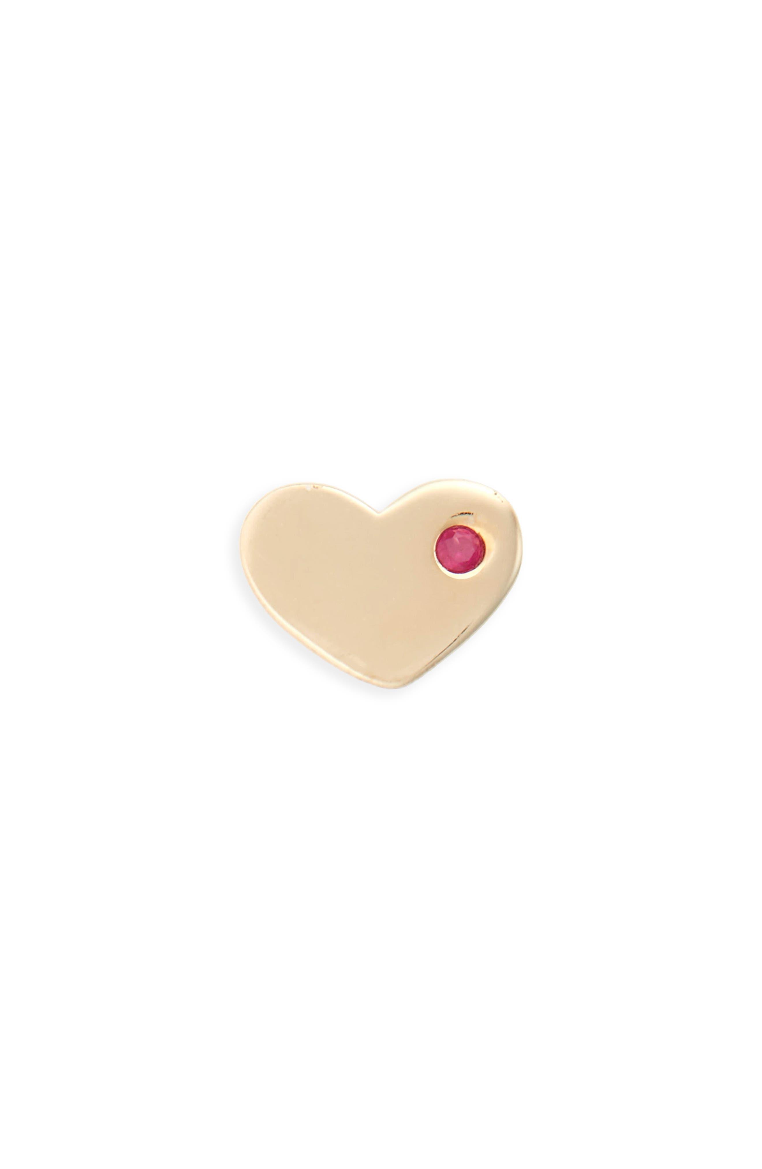 MARC JACOBS Strass Single Heart Stud Earring