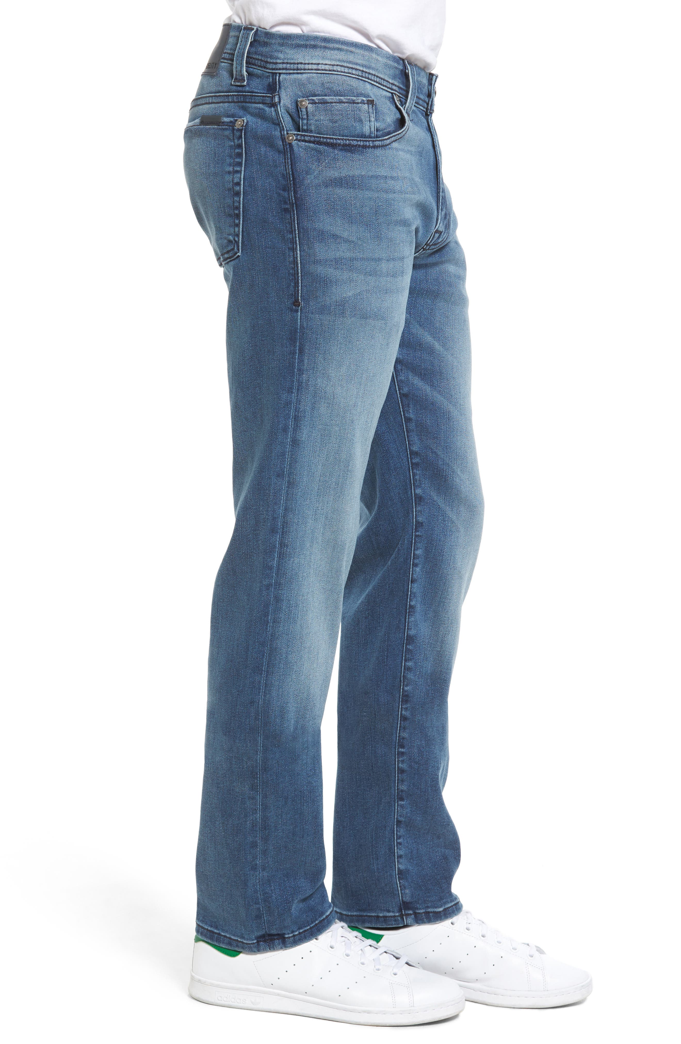 Jimmy Slim Straight Leg Jeans,                             Alternate thumbnail 3, color,                             Cortana Blue