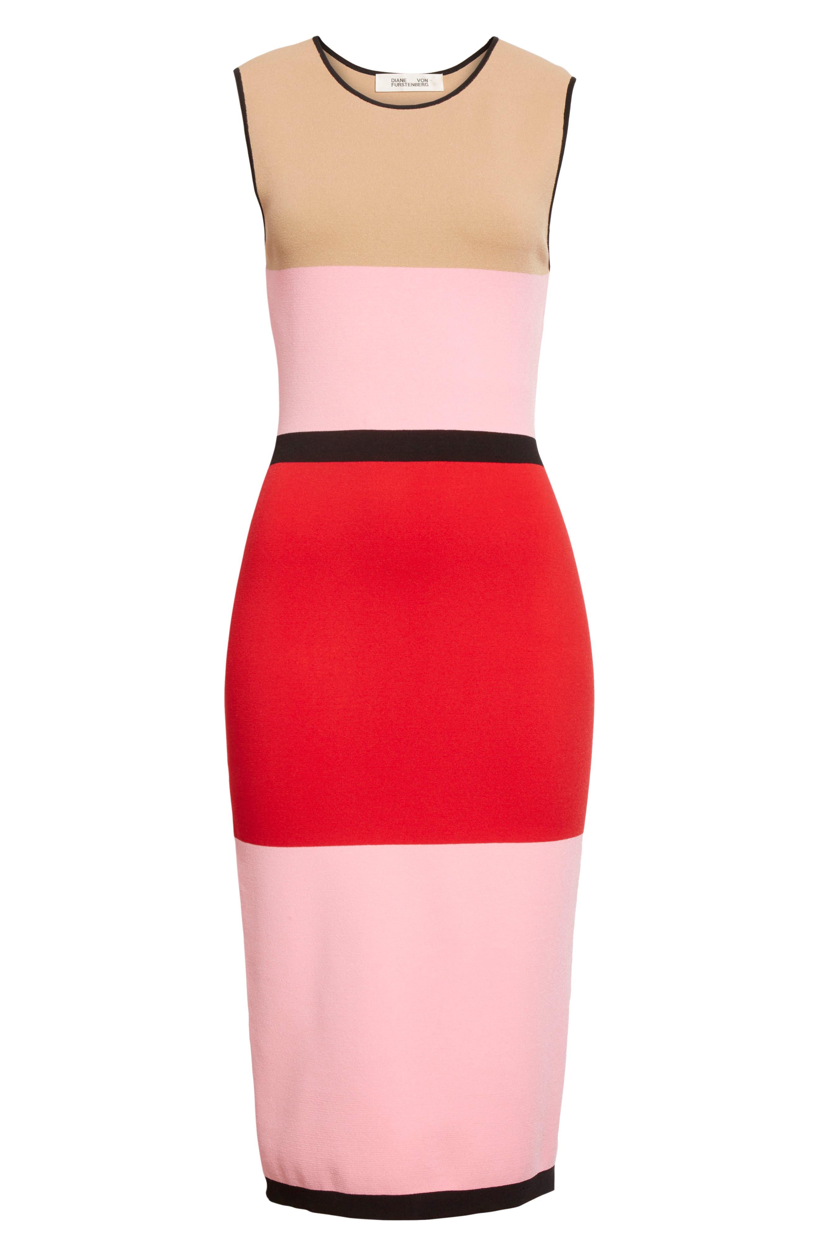 Alternate Image 6  - Diane von Furstenberg Colorblock Knit Dress