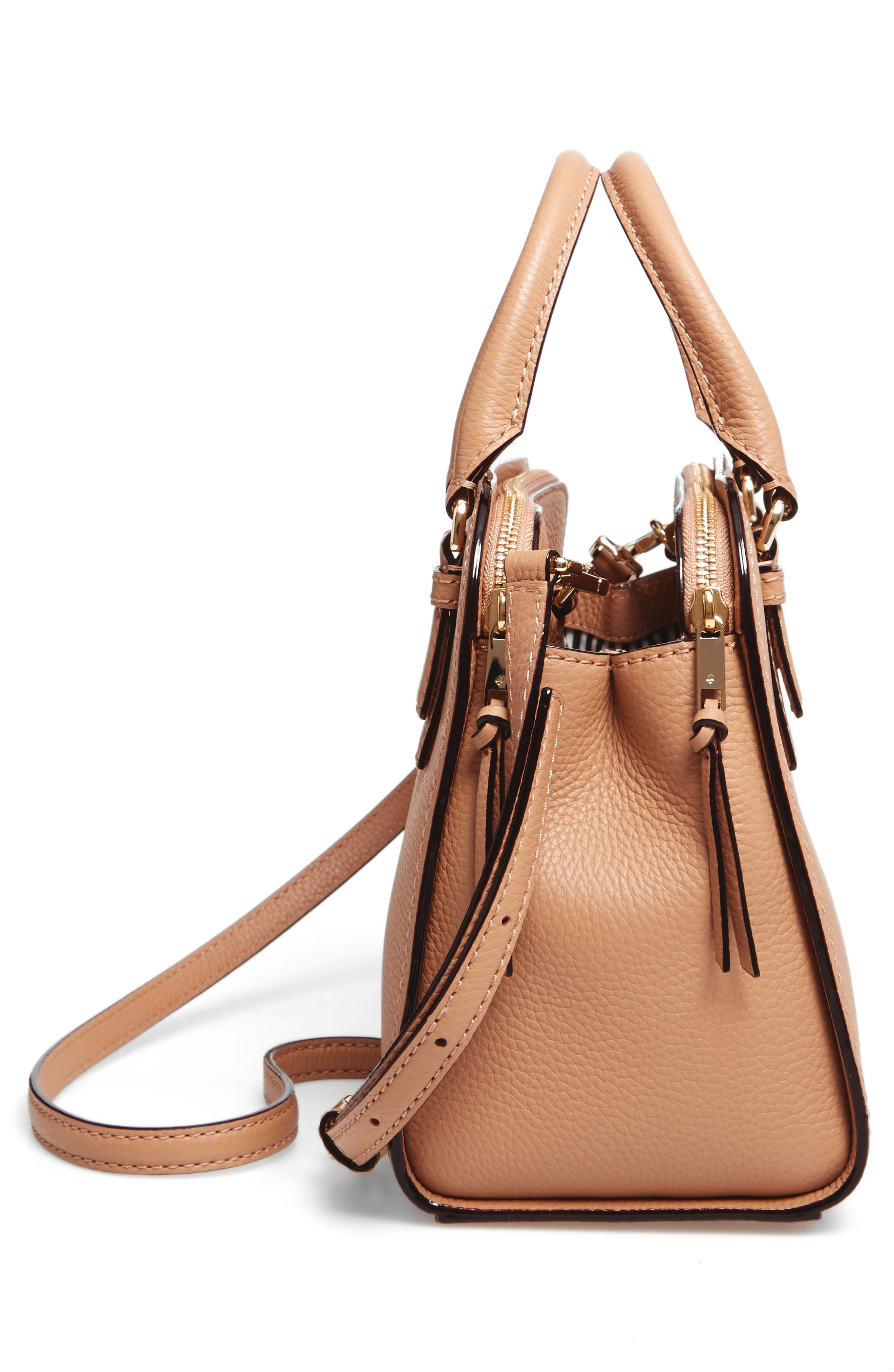 jackson street small kiernan leather top handle satchel,                             Alternate thumbnail 5, color,                             Hazel