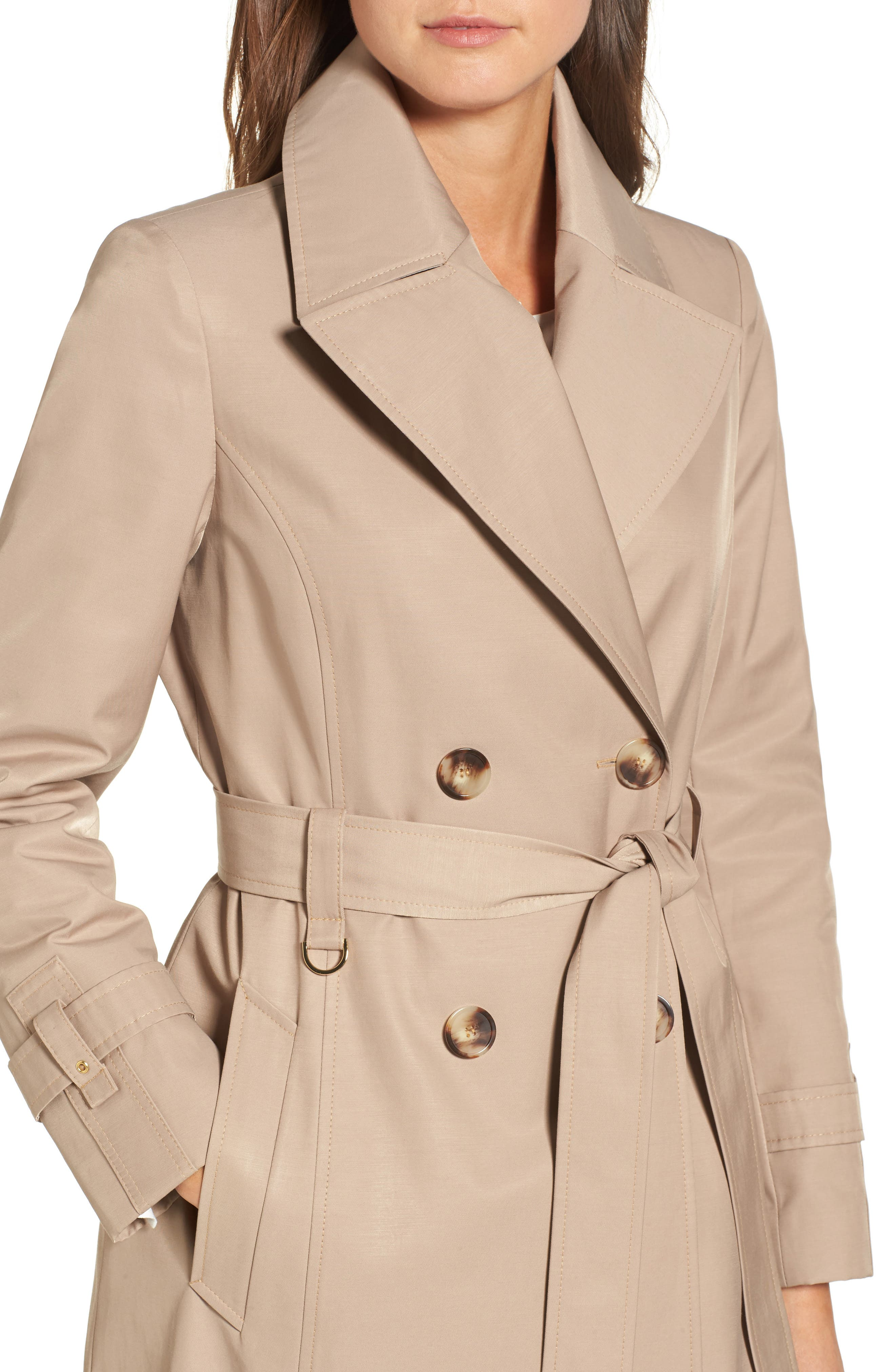 Alternate Image 4  - Via Spiga Double Breasted Trench Coat