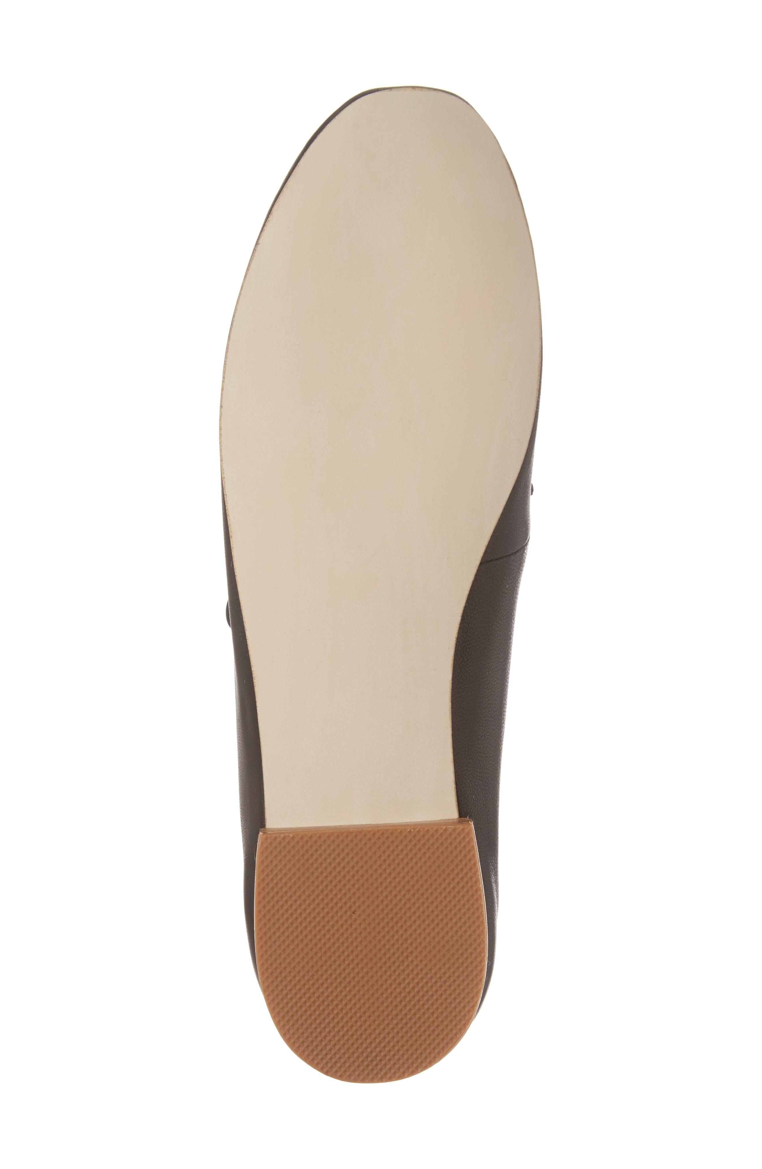 Prieto V-Cut Flat,                             Alternate thumbnail 6, color,                             Black Leather