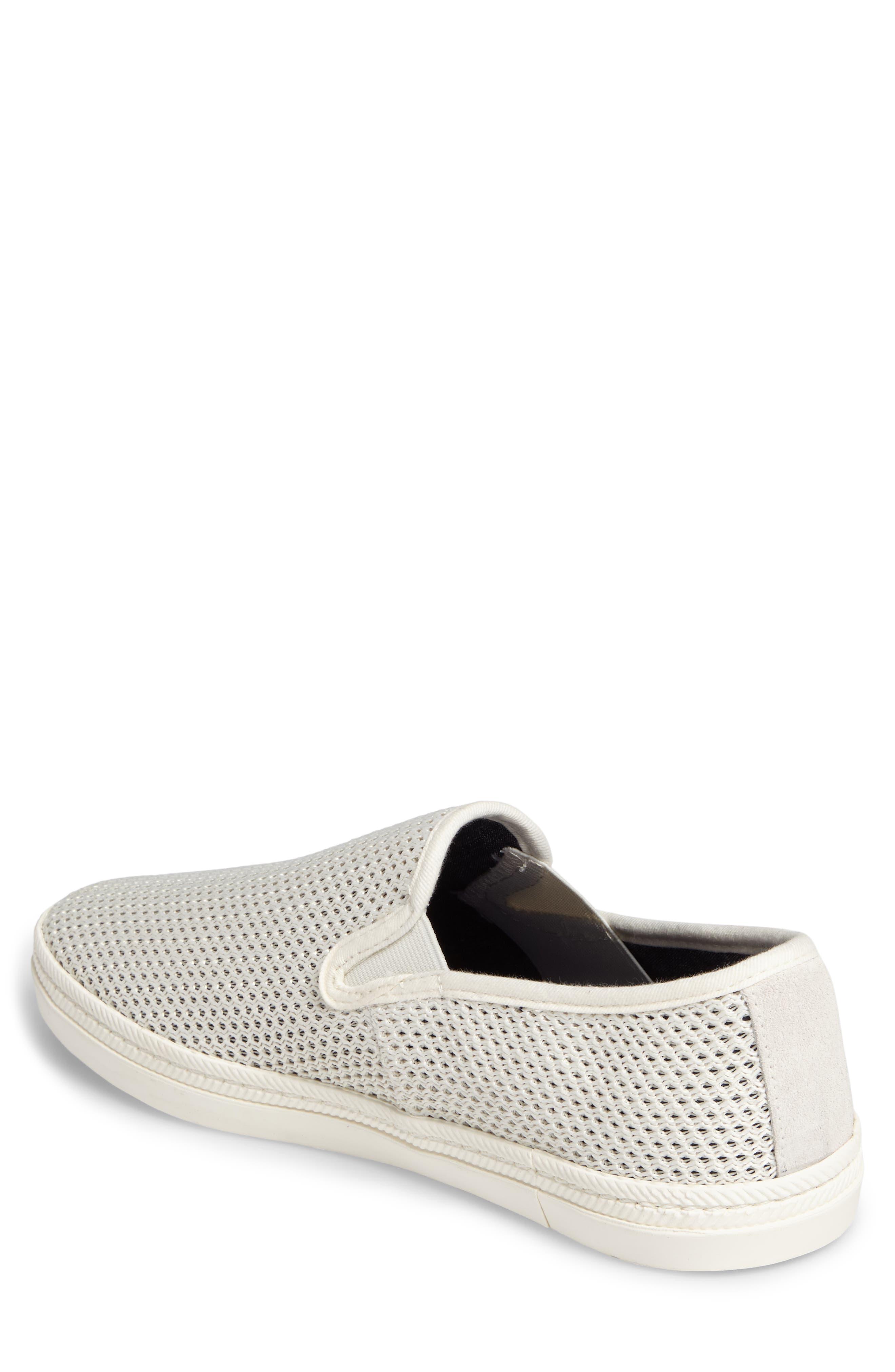 Delray Woven Slip-On Sneaker,                             Alternate thumbnail 2, color,                             Bone Beige Fabric