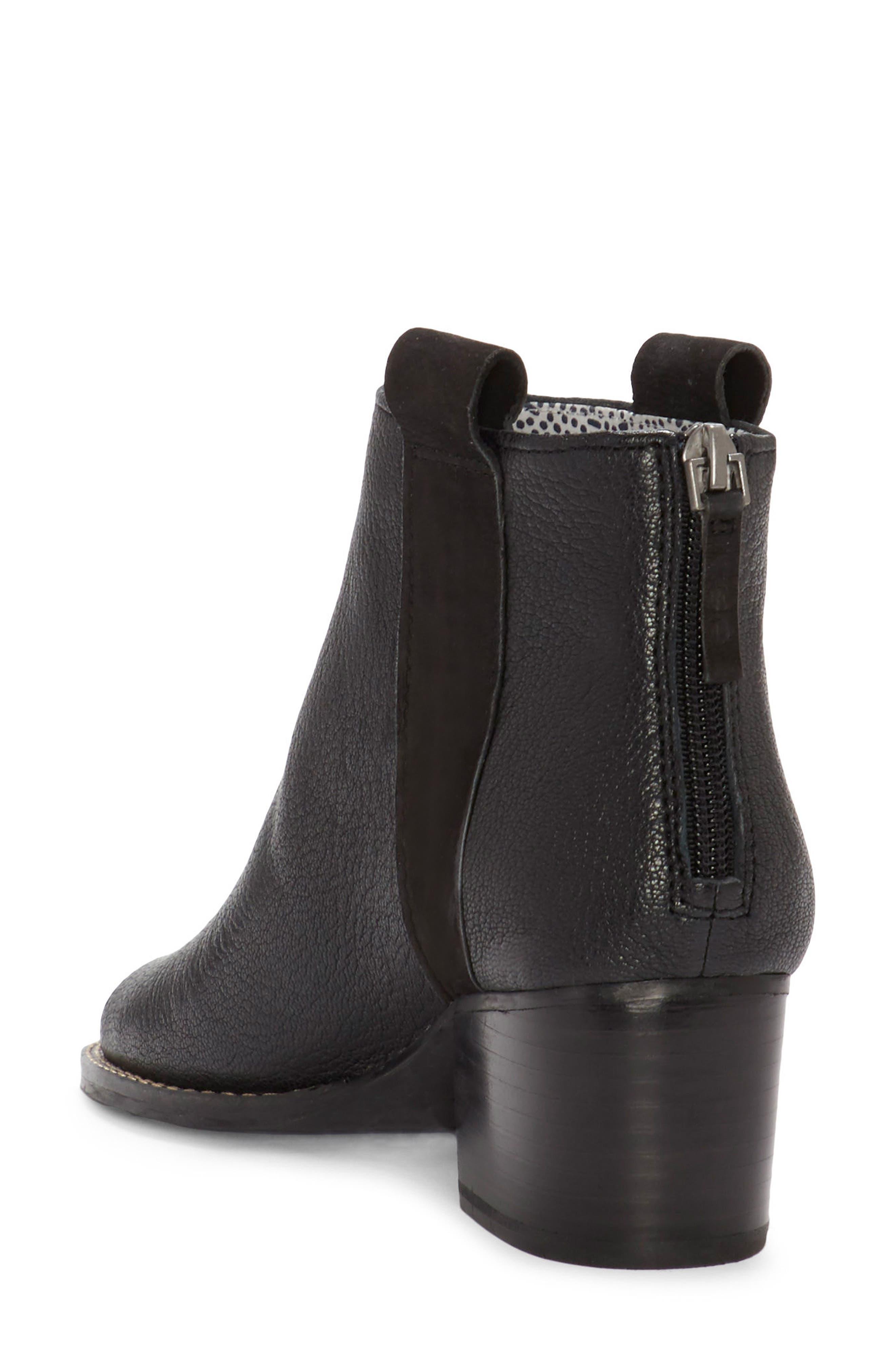 Taromi Peep Toe Bootie,                             Alternate thumbnail 2, color,                             Black Leather