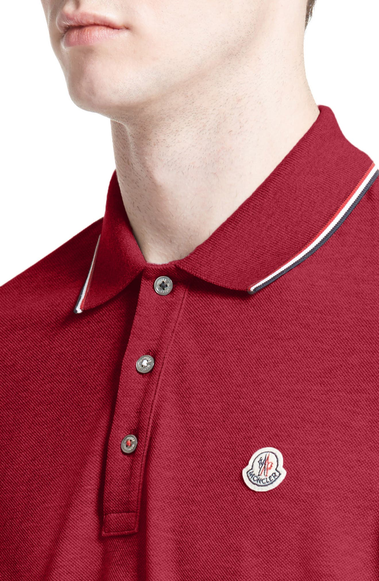 Maglia Long Sleeve Polo,                             Alternate thumbnail 4, color,                             Red