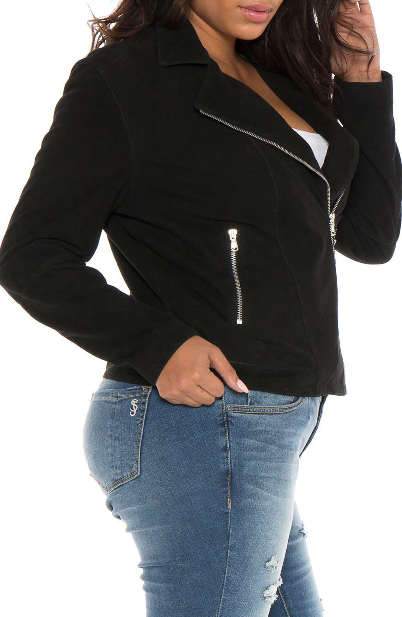 Alternate Image 3  - SLINK Jeans Canyon Suede Jacket (Plus Size)