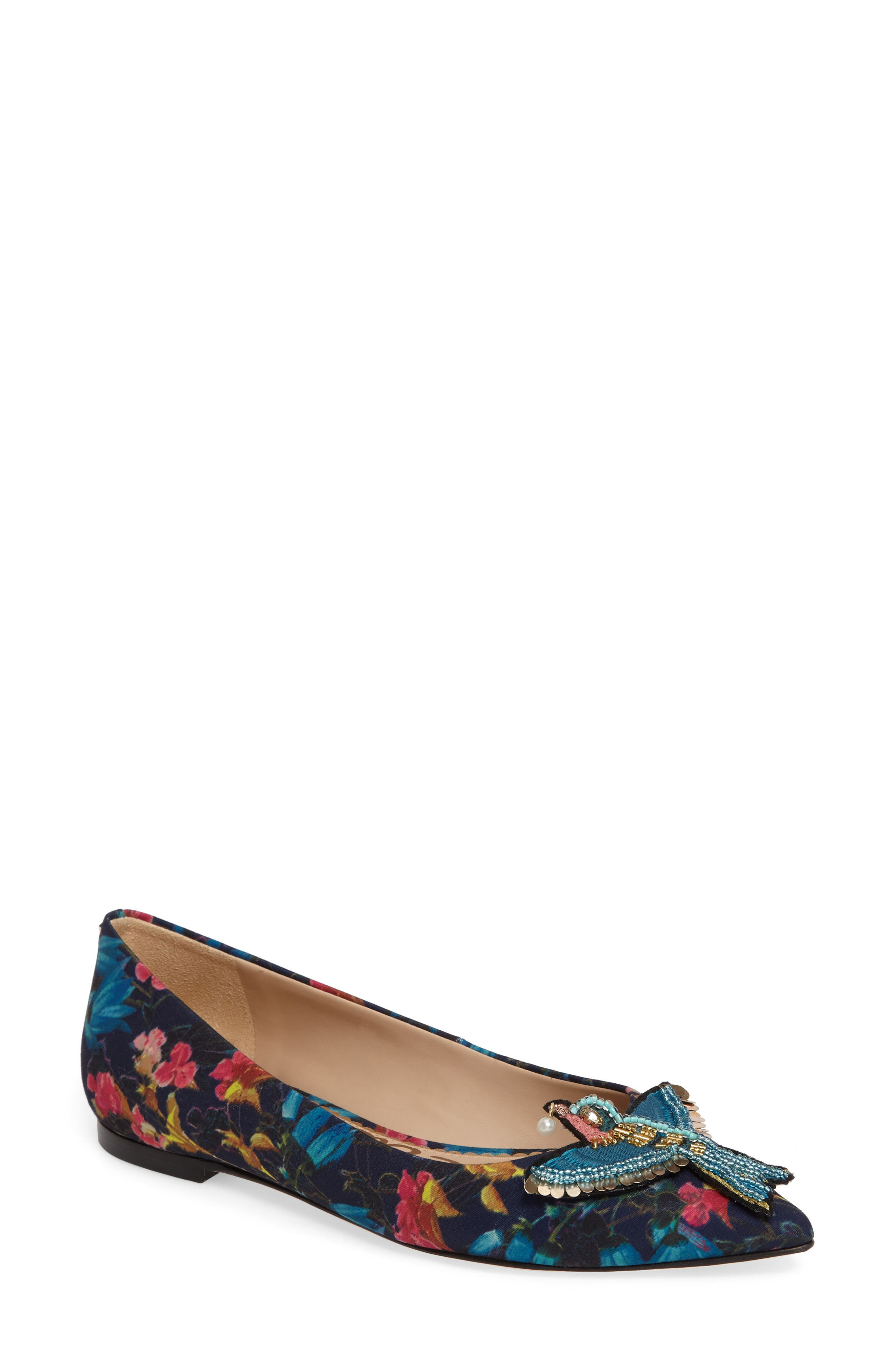 Alternate Image 1 Selected - Sam Edelman Rafaella Pointy Toe Ballet Flat (Women)