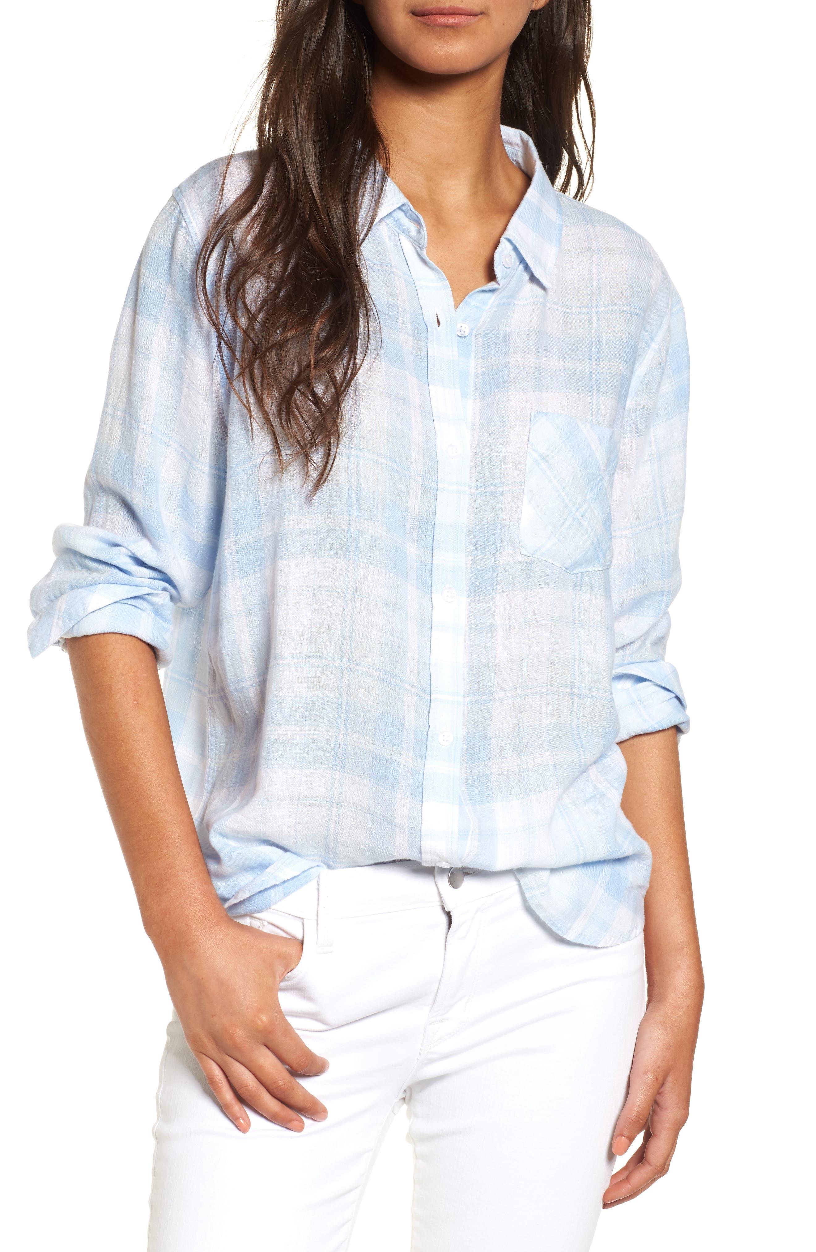 Rails Charli Plaid Linen Blend Shirt