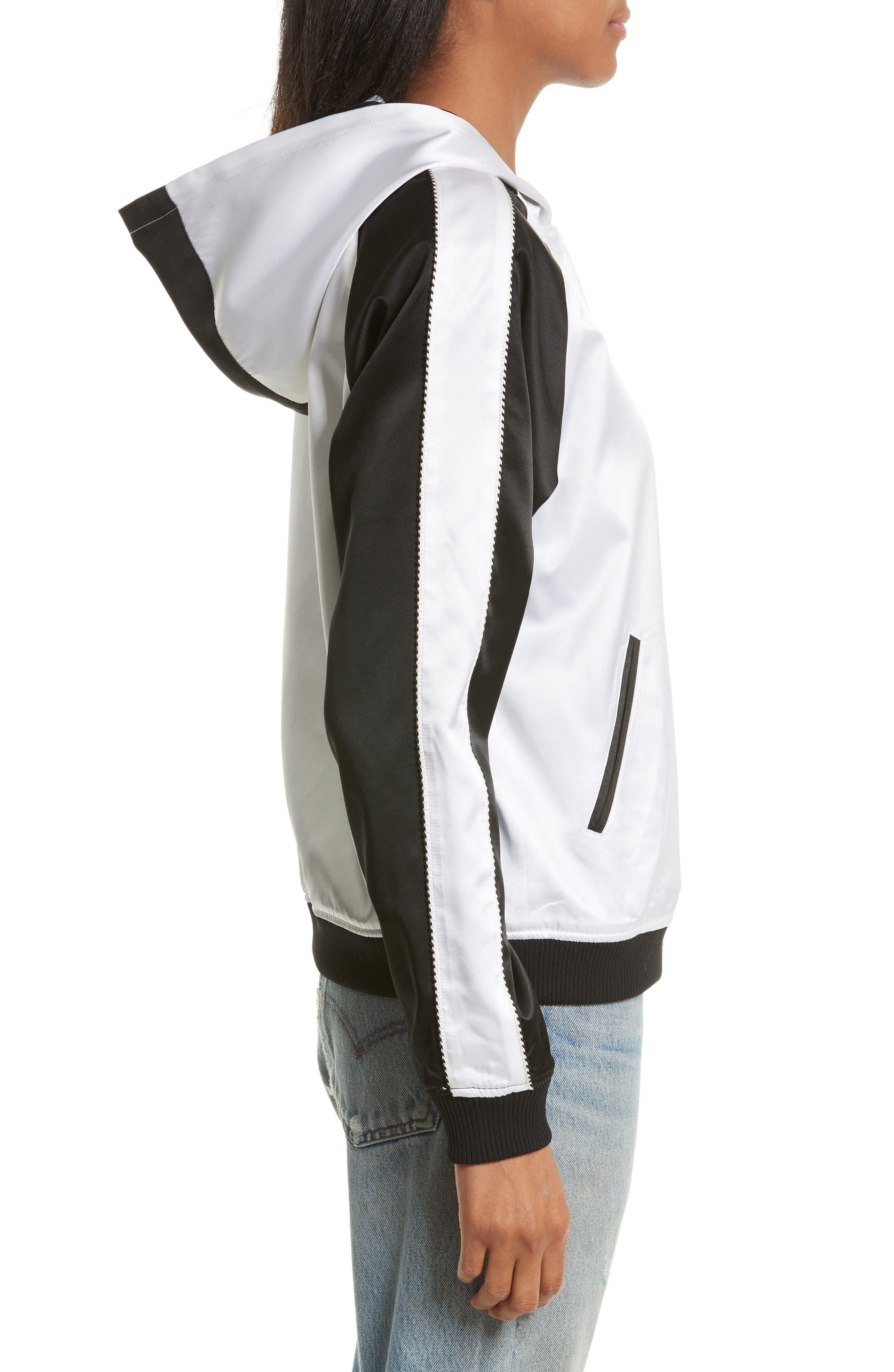 OC Reversible Silk Track Jacket,                             Alternate thumbnail 3, color,                             Black Multi