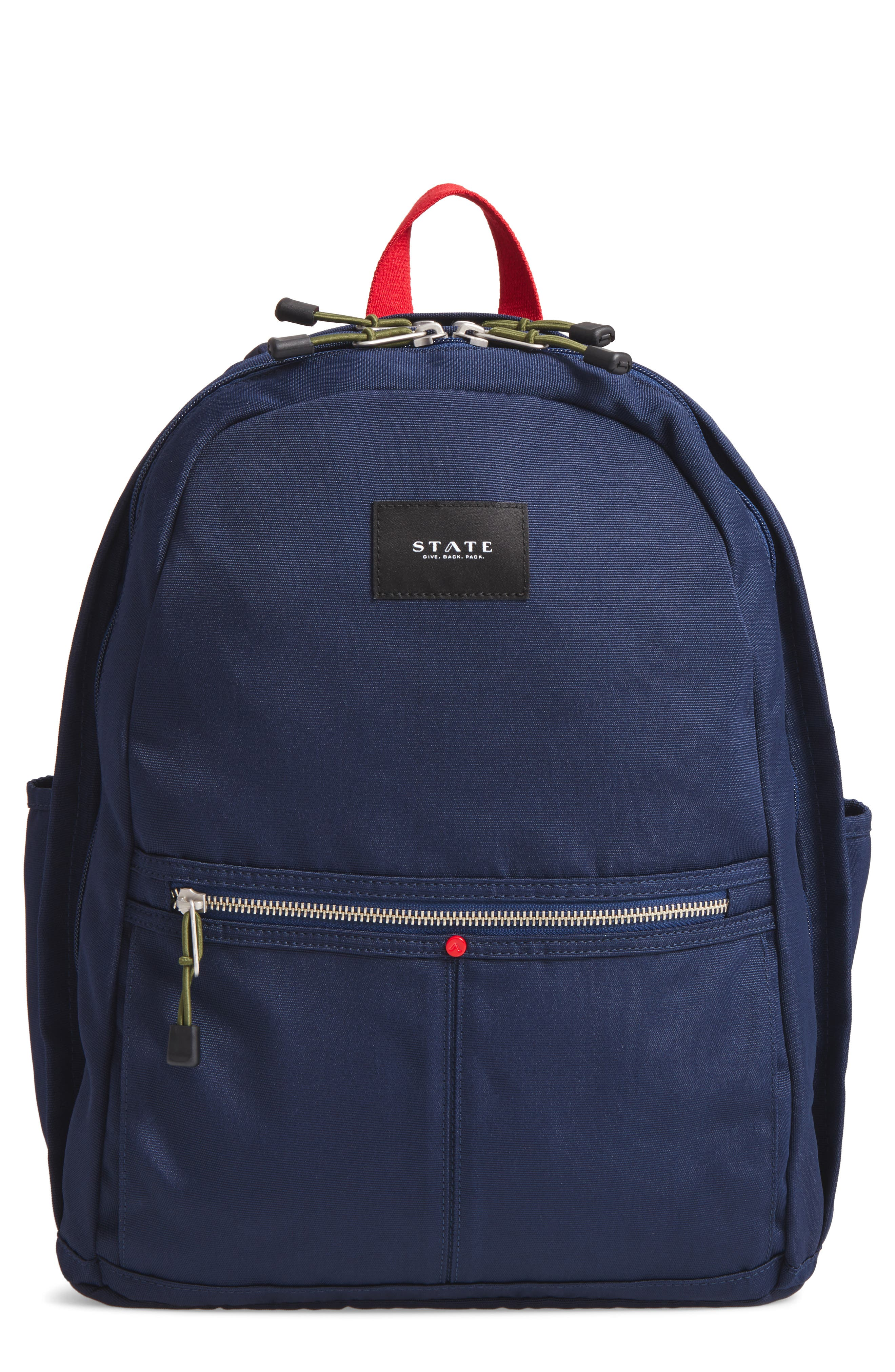 Williamsburg Bedford Backpack,                         Main,                         color, Navy