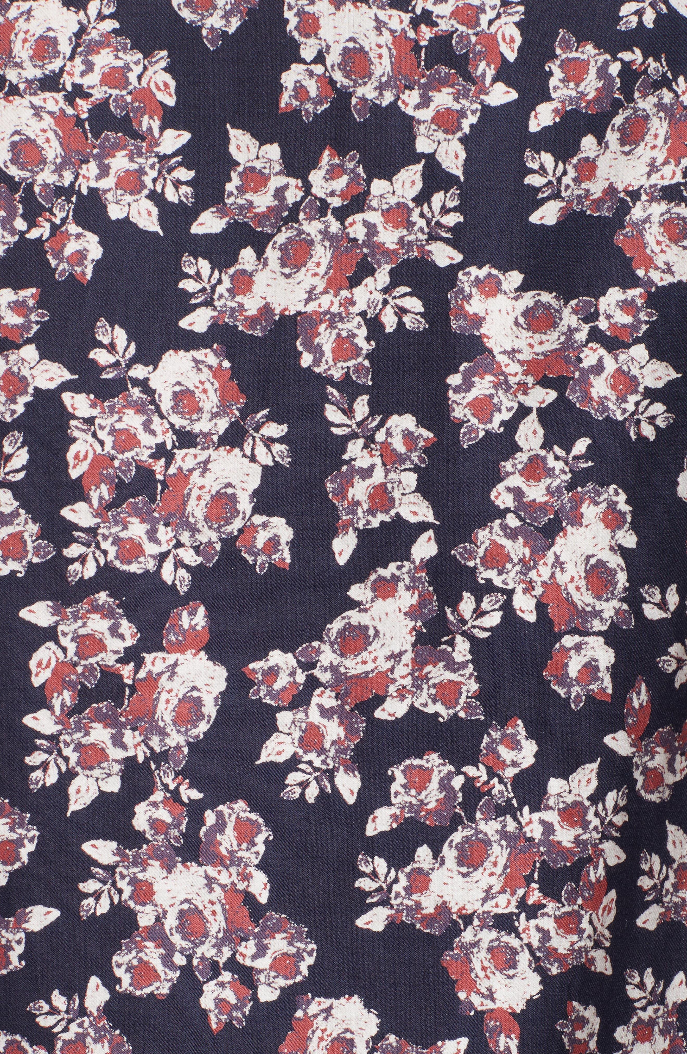Alternate Image 5  - The Kooples Floral Print Sport Shirt