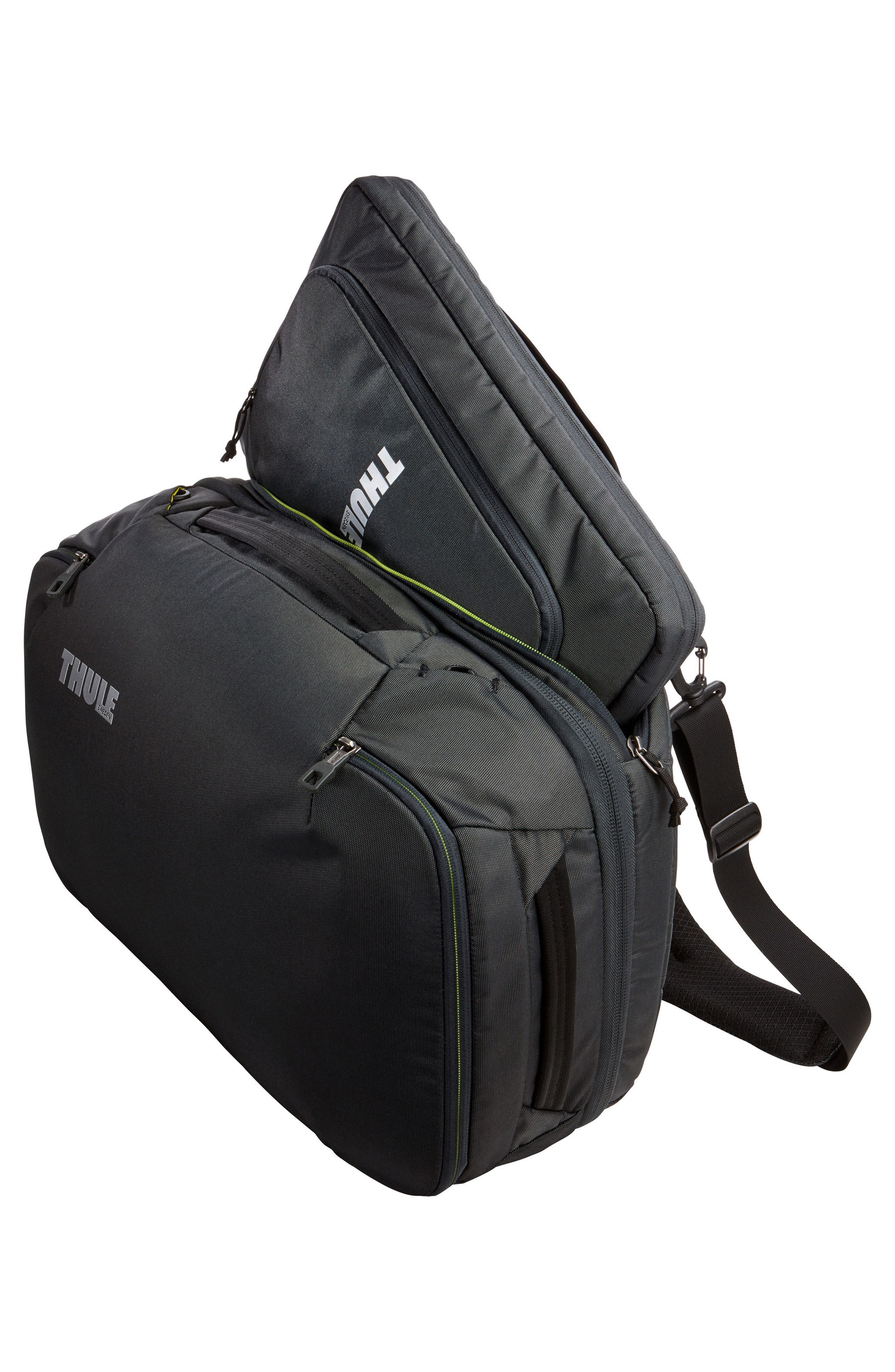 Subterra 40-Liter Convertible Duffel Bag,                             Alternate thumbnail 6, color,                             Dark Shadow
