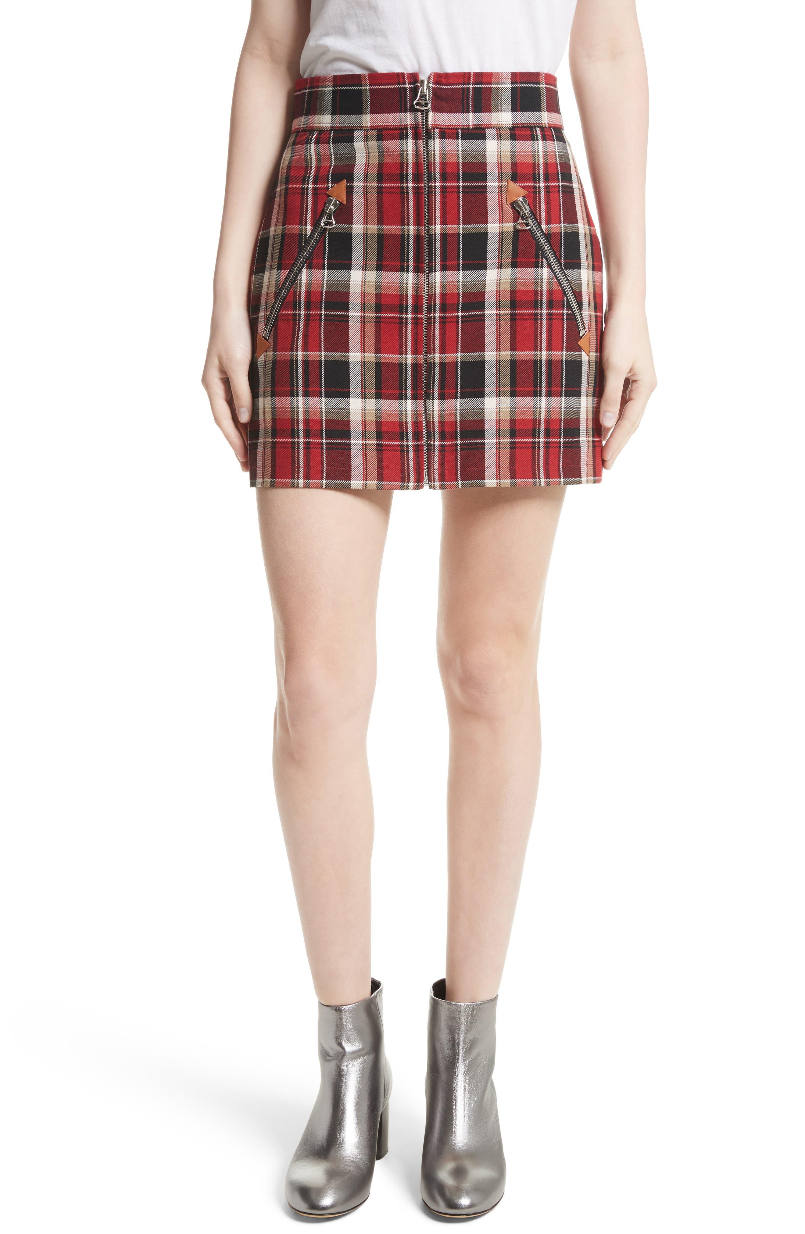 Main Image - rag & bone Leah Plaid Skirt