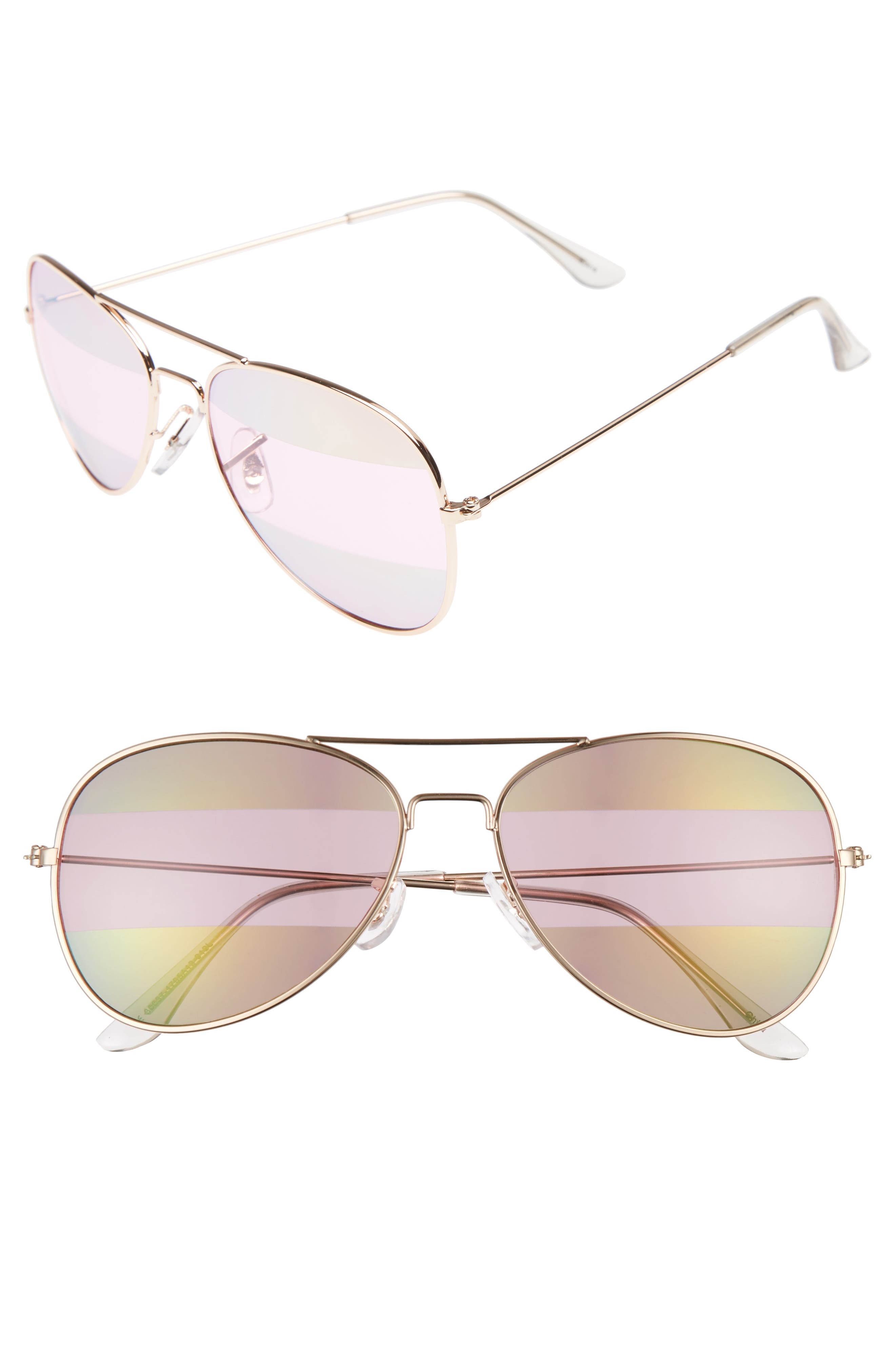 Main Image - BP. 56mm Two-Tone Aviator Sunglasses